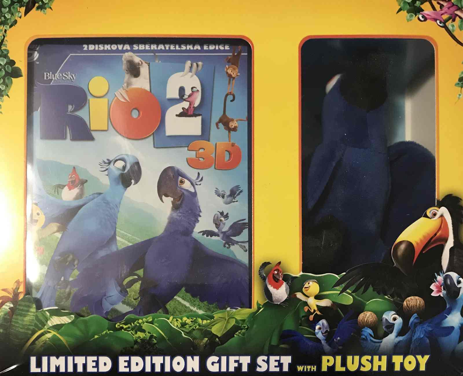 RIO 2 - Blu-ray 3D + 2D Limitovaná edice s plyšovou hračkou