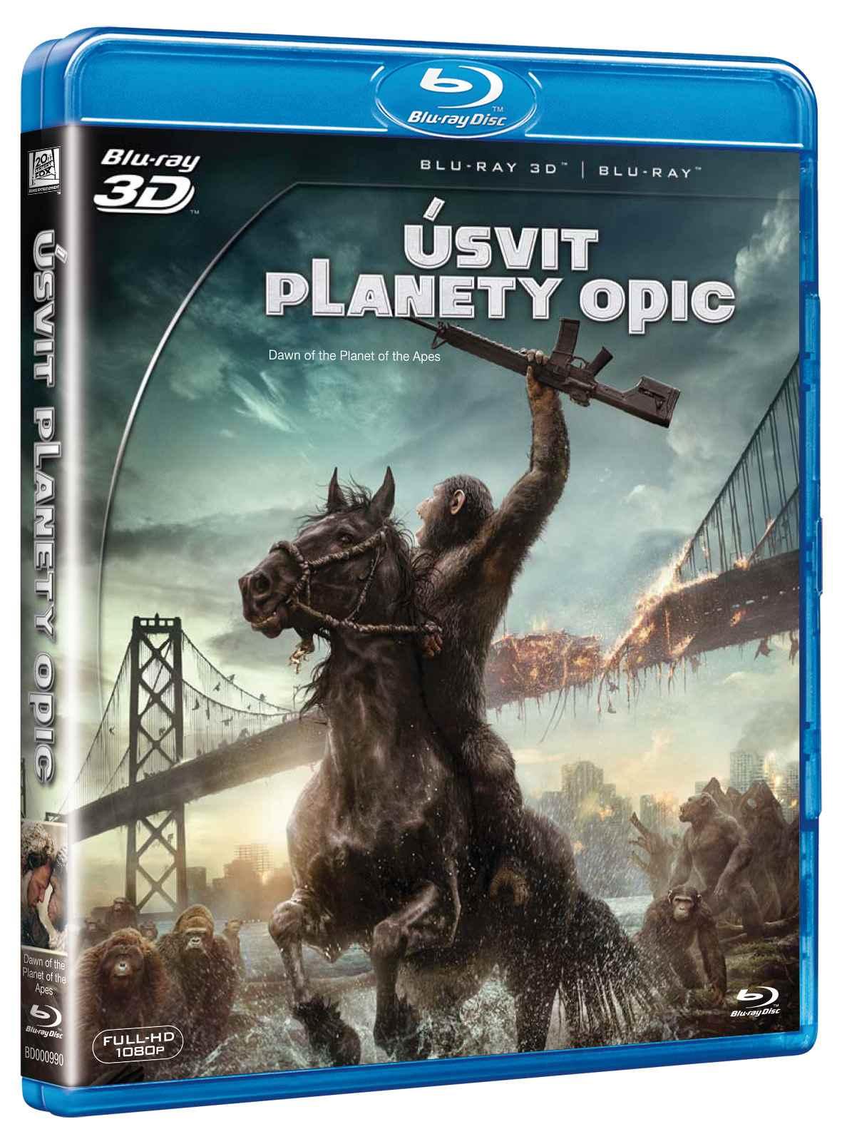 ÚSVIT PLANETY OPIC - Blu-ray 3D + 2D