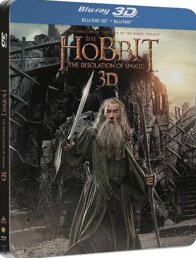 HOBIT: ŠMAKOVA DRAČÍ POUŠŤ - Blu-ray 3D + 2D (4 BD) STEELBOOK