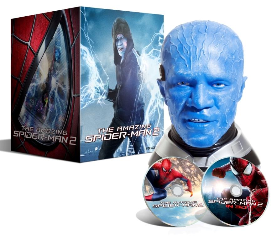AMAZING SPIDER-MAN 2 (Limitovaná edice) hlava ELECTRO - Blu-ray 3D + 2D