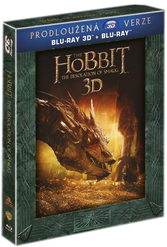 HOBIT: ŠMAKOVA DRAČÍ POUŠŤ (Prodloužená verze, 5 BD) - Blu-ray 3D + 2D