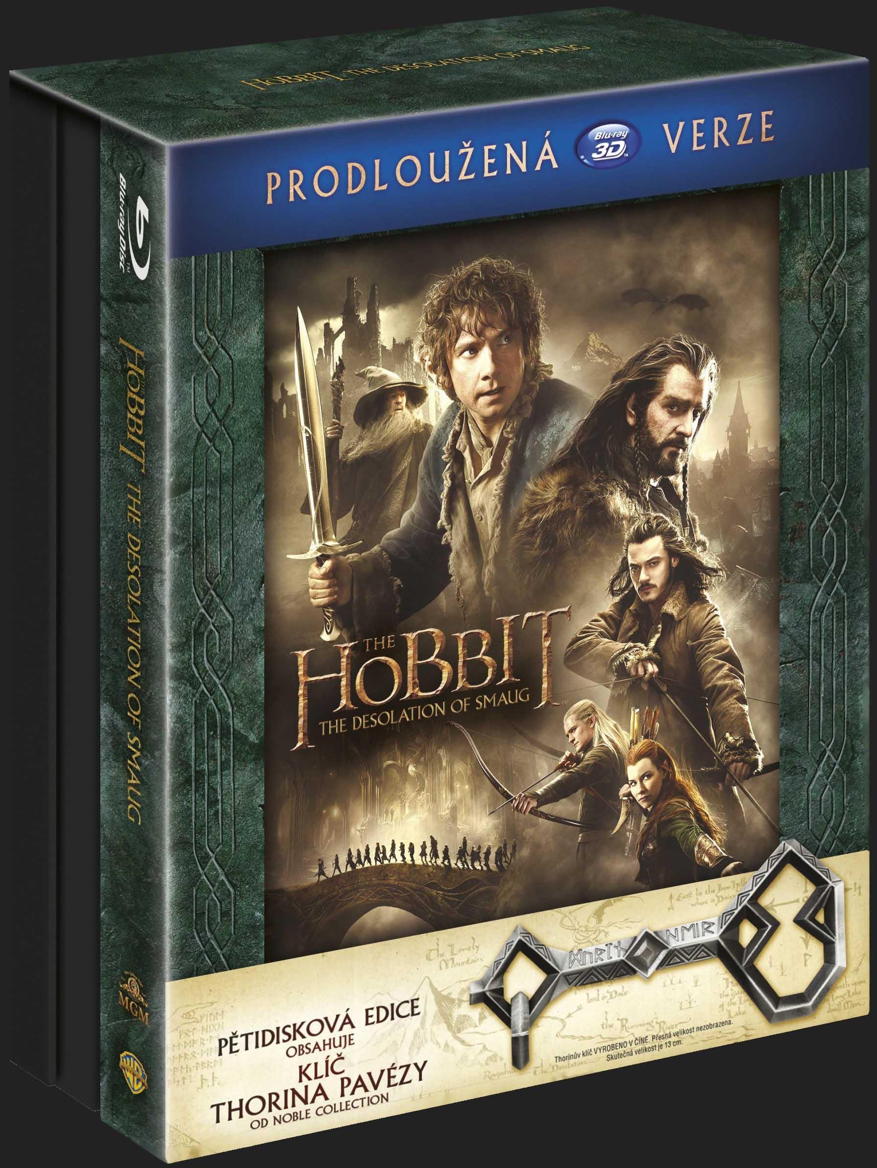 Hobit: Šmakova dračí poušť (Prodloužená verze) klíč Ereboru - Blu-ray 3D + 2D