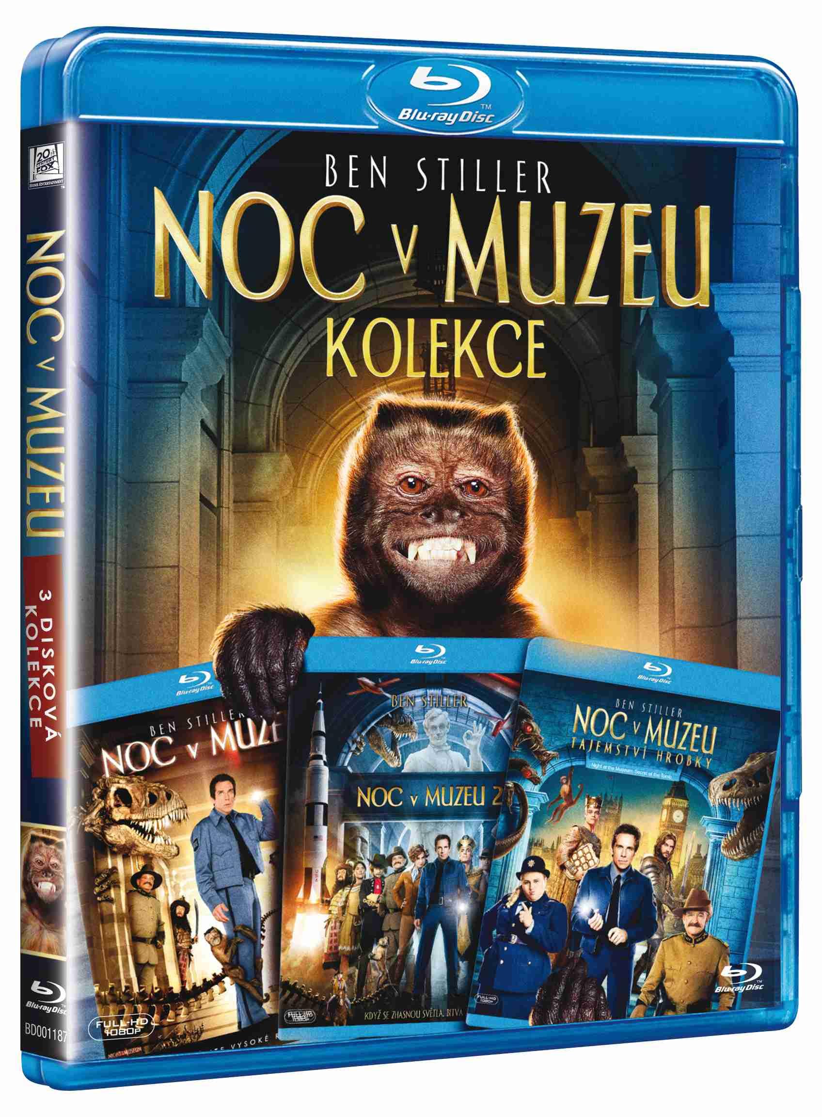 NOC V MUZEU 1-3 KOLEKCE (3 BD) - Blu-ray