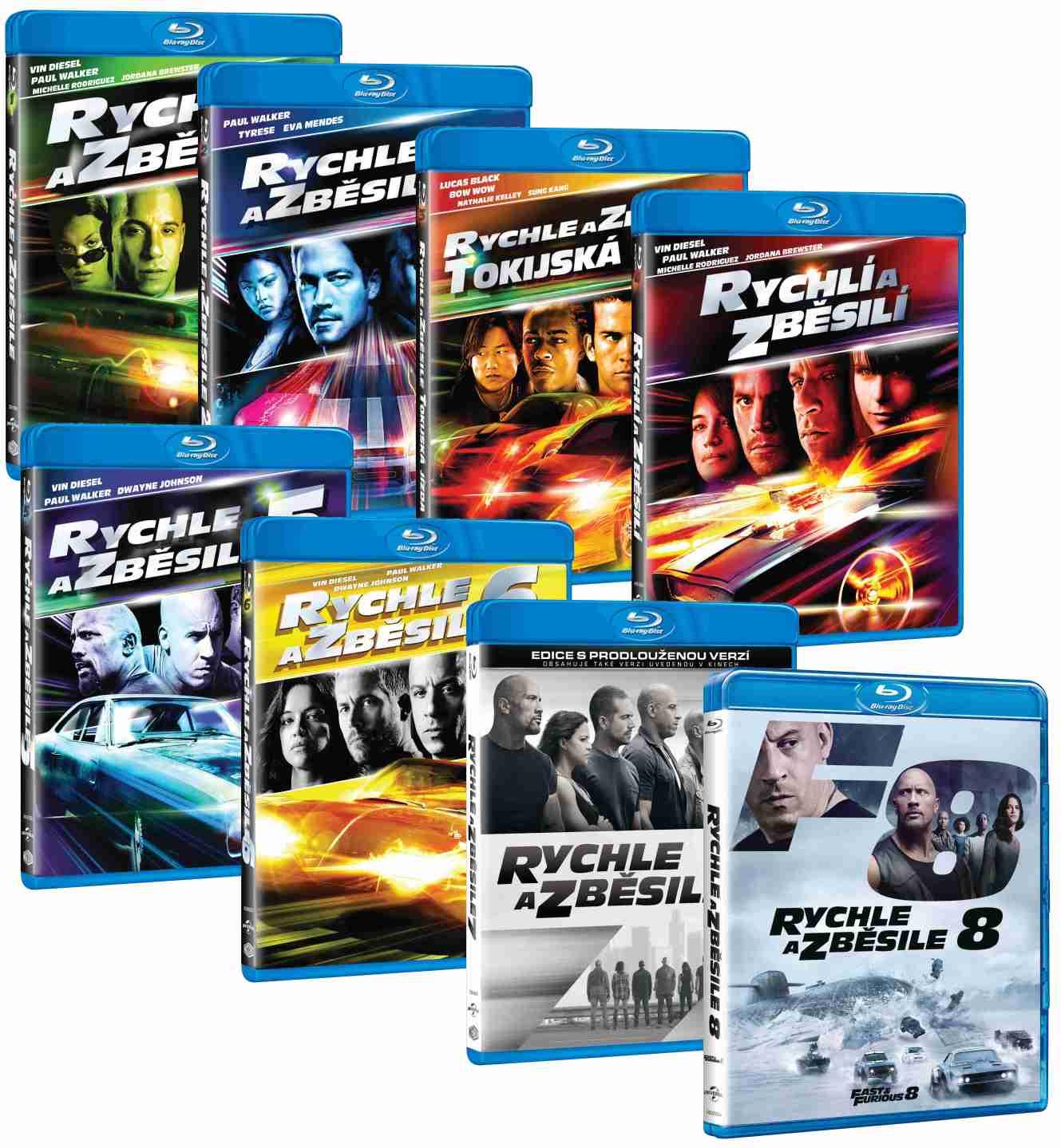 Rychle a zběsile 1-8 kolekce (8 BD) - Blu-ray