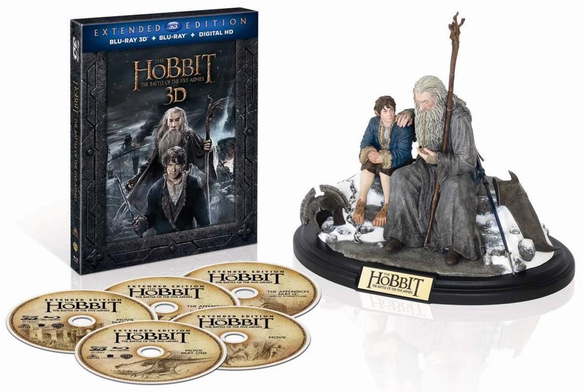 HOBIT: BITVA PĚTI ARMÁD (Prodloužená verze) + soška - Blu-ray 3D + 2D