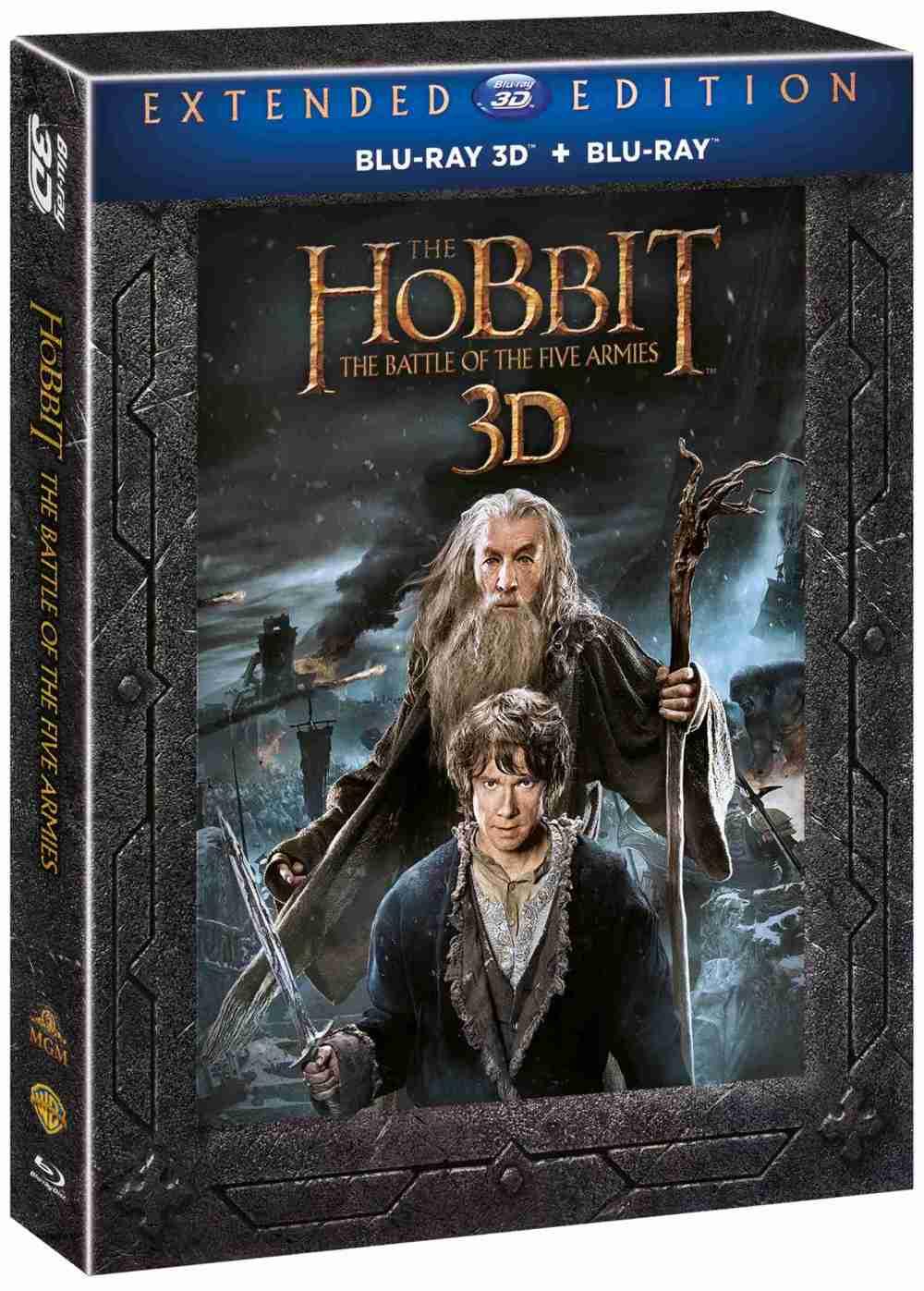 HOBIT: BITVA PĚTI ARMÁD (Prodloužená verze, 5BD) - Blu-ray 3D + 2D