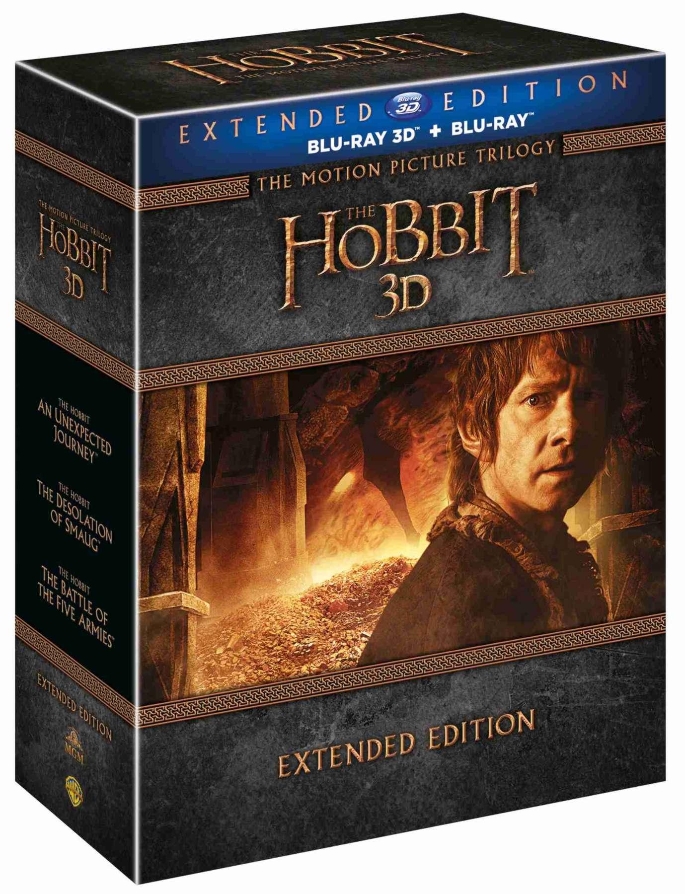 HOBIT 1-3 KOLEKCE (Prodloužená verze, 15 BD) - Blu-ray 3D + 2D