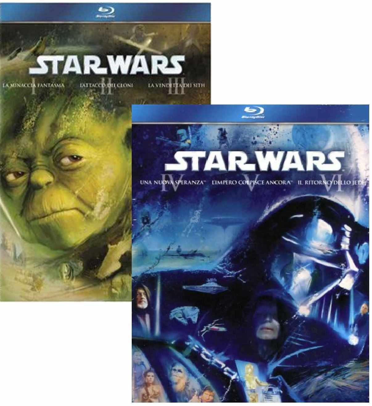 STAR WARS 1-6 KOMPLETNÍ SÁGA (9 BD) - Blu-ray
