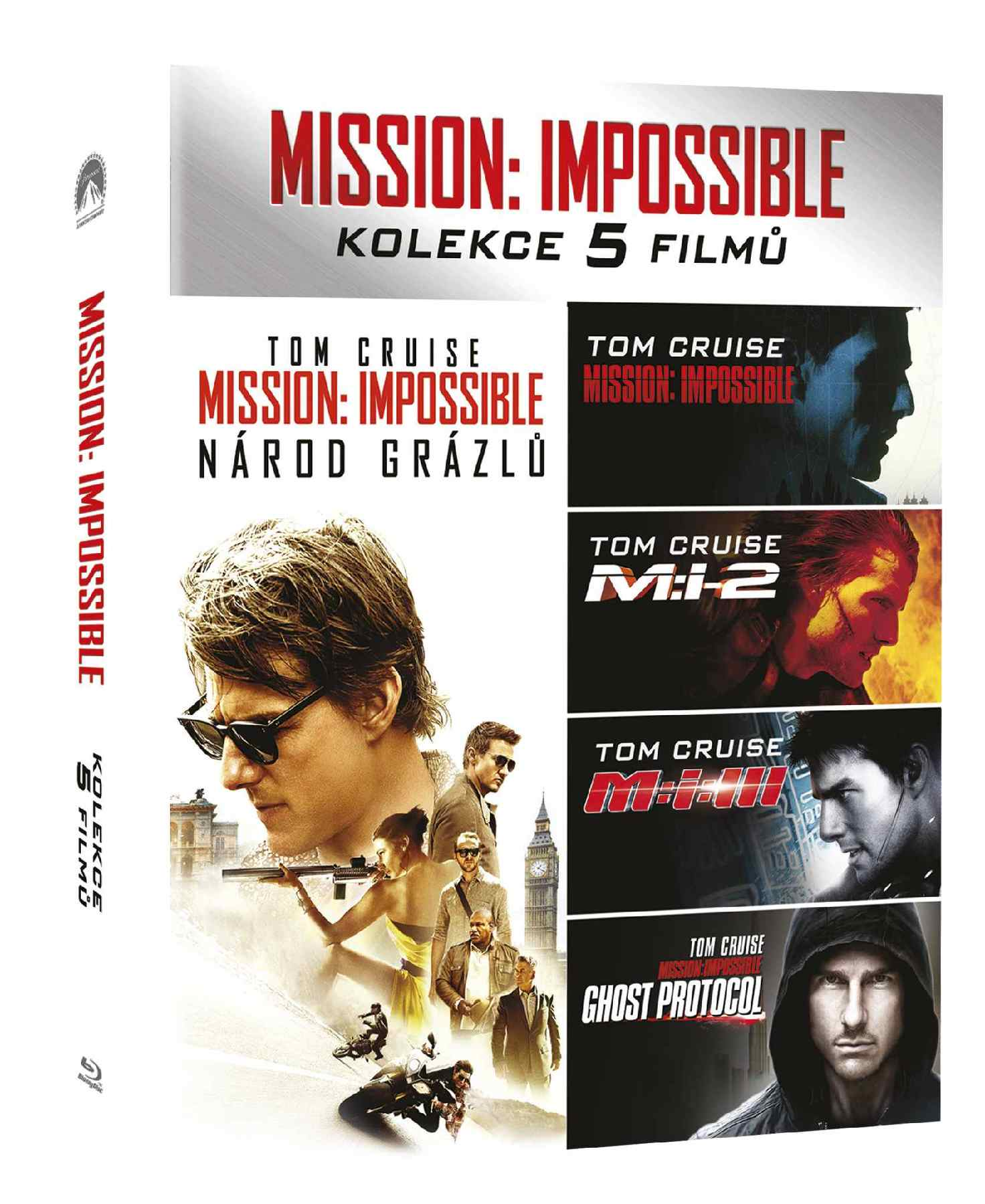 MISSION: IMPOSSIBLE 1-5 KOLEKCE (5 BD) - Blu-ray