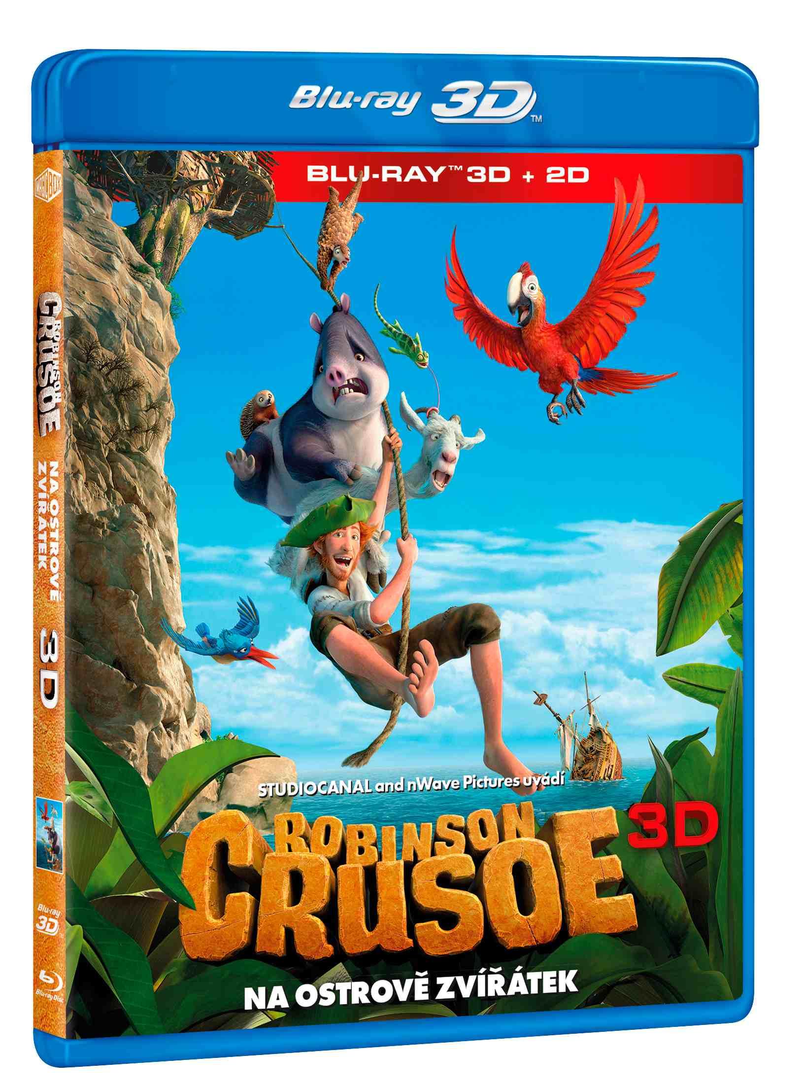 ROBINSON CRUSOE: NA OSTROVĚ ZVÍŘÁTEK - Blu-ray 3D + 2D (1 BD)