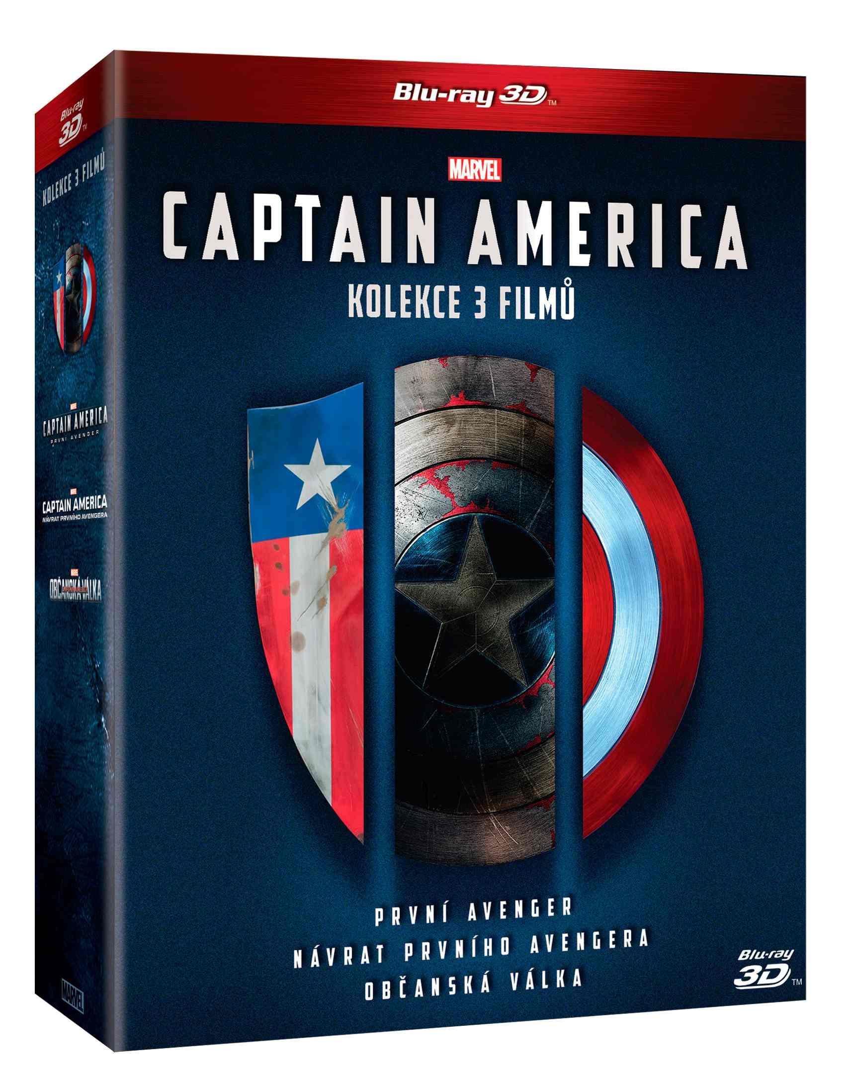 CAPTAIN AMERICA 1-3 KOLEKCE (6 BD) - Blu-ray 3D + 2D