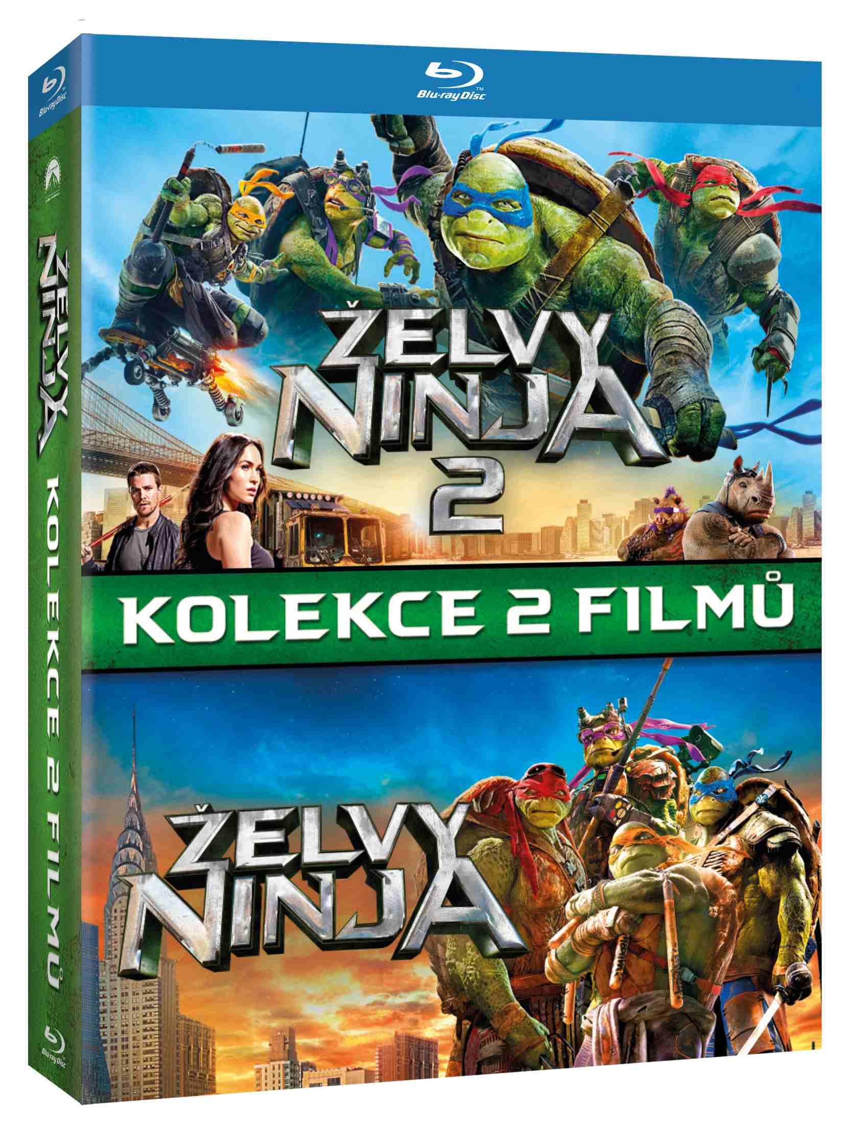 ŽELVY NINJA 1+2 KOLEKCE (2 BD) - Blu-ray