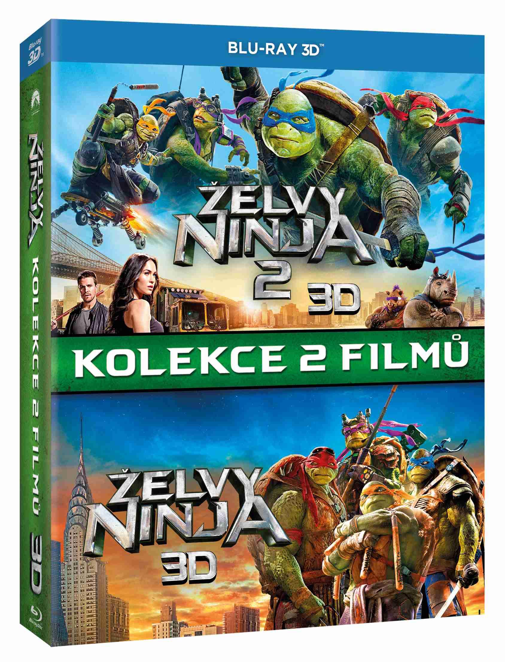 ŽELVY NINJA 1+2 KOLEKCE (3 BD) - Blu-ray 3D + 2D