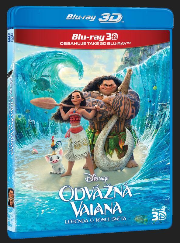 ODVÁŽNÁ VAIANA: LEGENDA O KONCI SVĚTA - Blu-ray 3D + 2D (2 BD)
