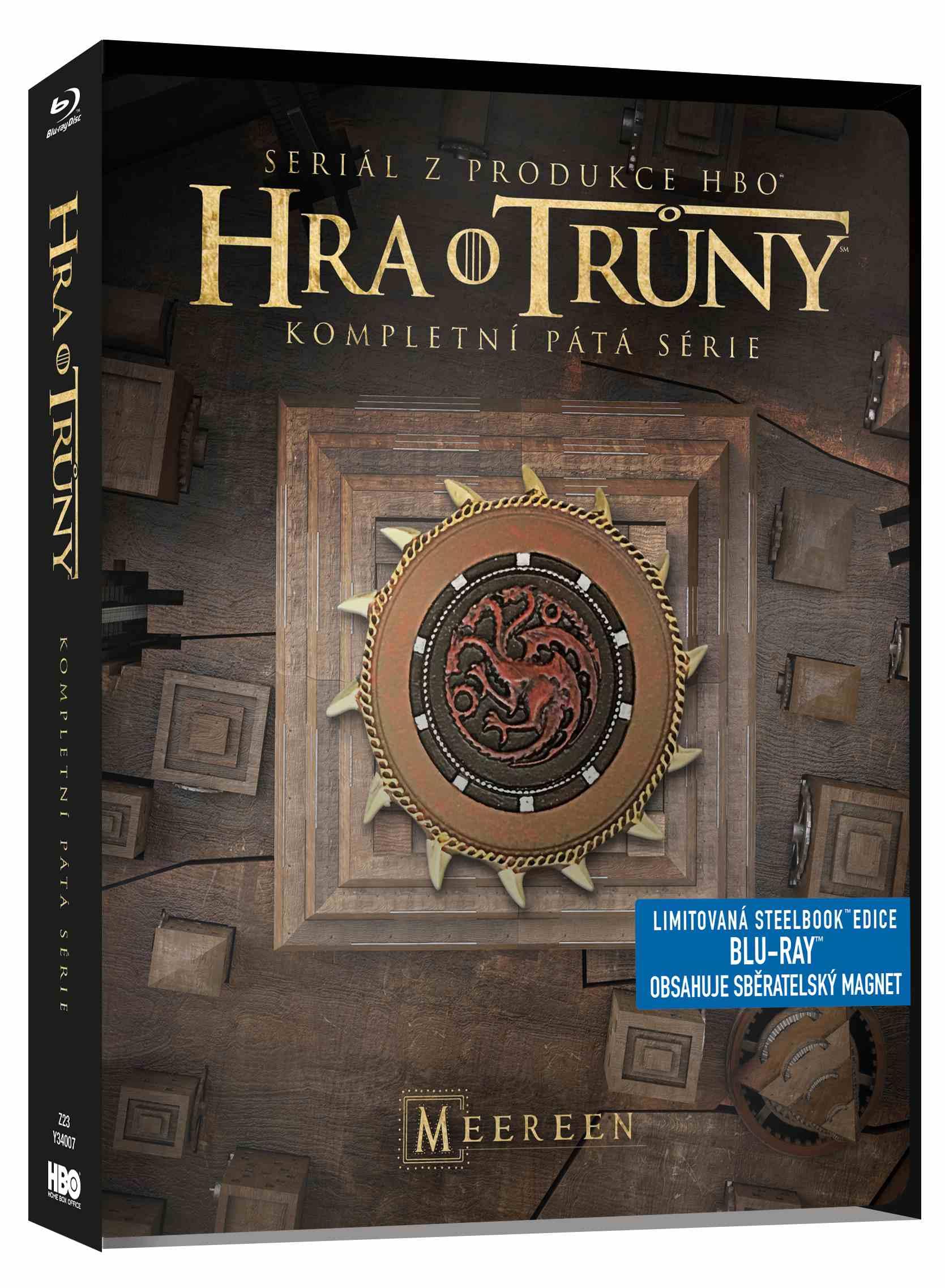HRA O TRŮNY - 5. SÉRIE (4 BD) - Blu-ray STEELBOOK