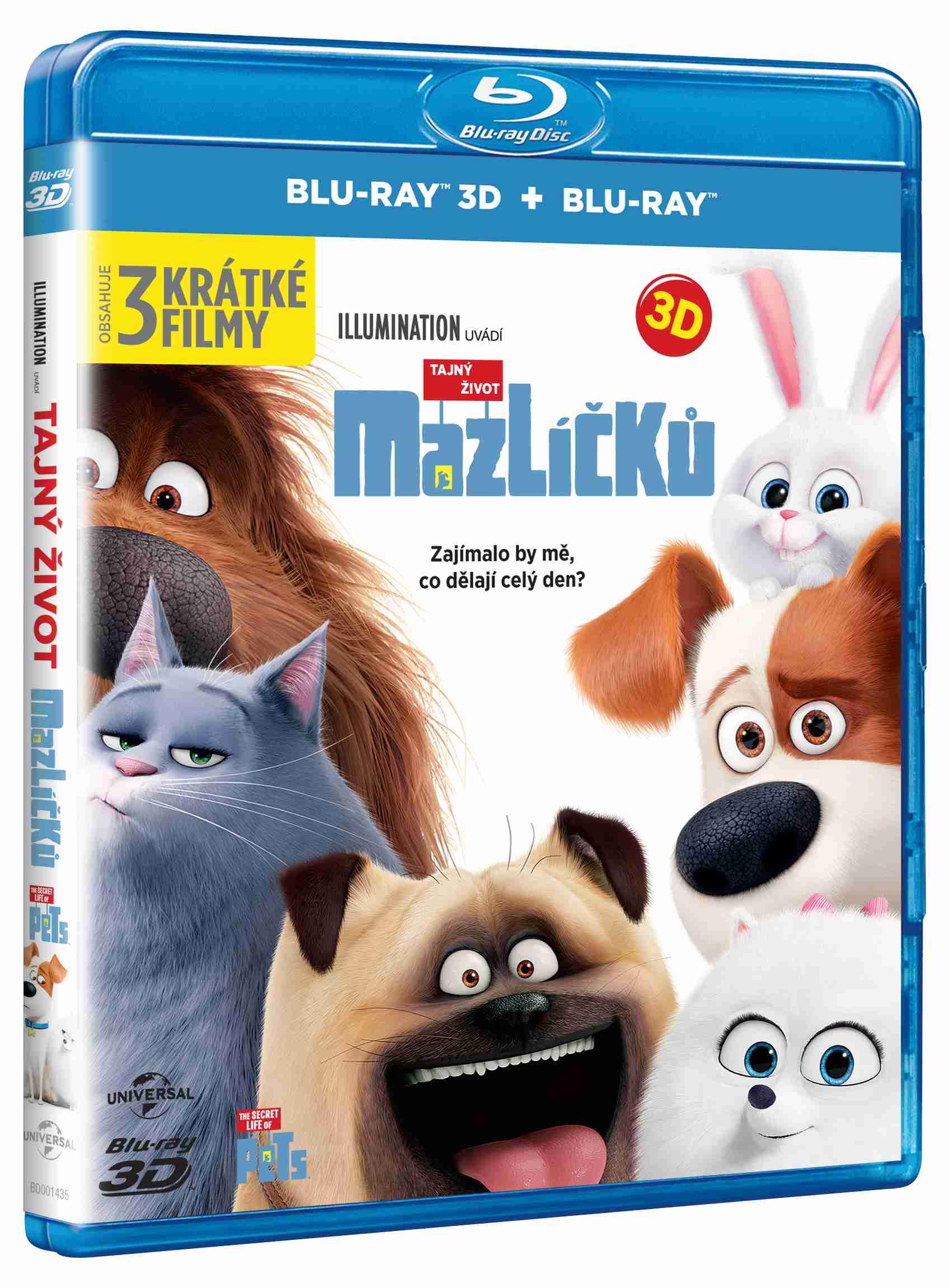 TAJNÝ ŽIVOT MAZLÍČKŮ - Blu-ray 3D + 2D (2 BD)