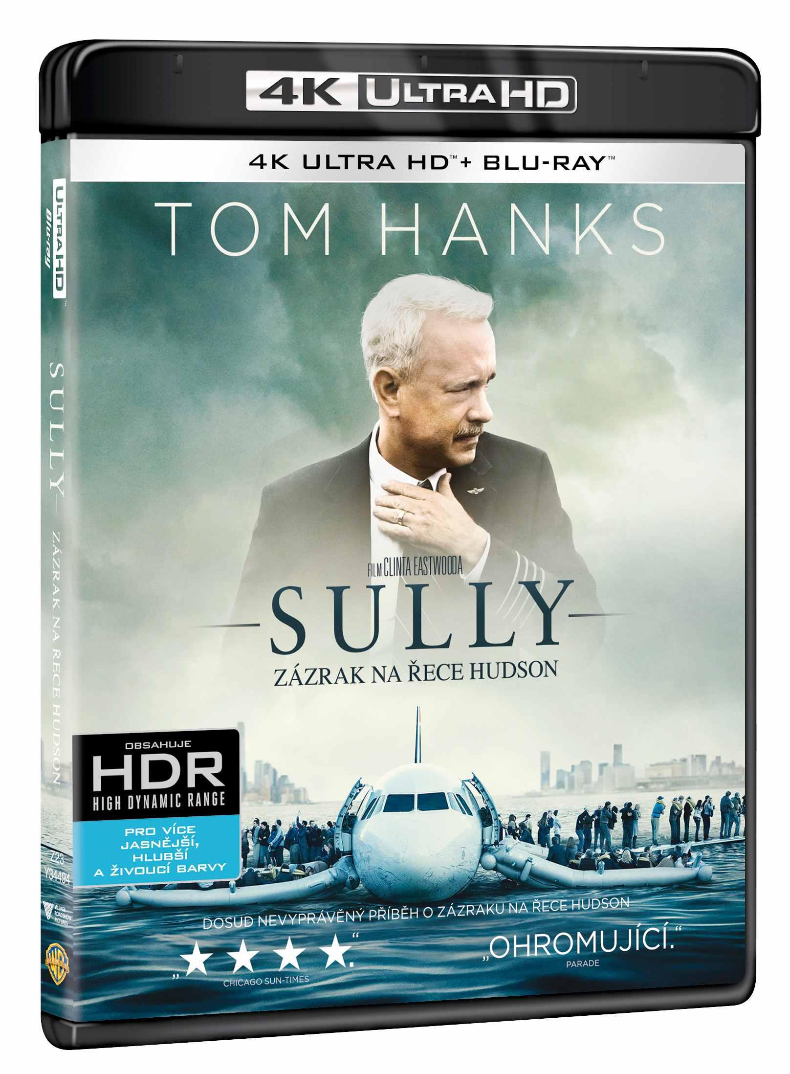 SULLY: ZÁZRAK NA ŘECE HUDSON (4K ULTRA HD) - UHD Blu-ray + Blu-ray (2 BD)