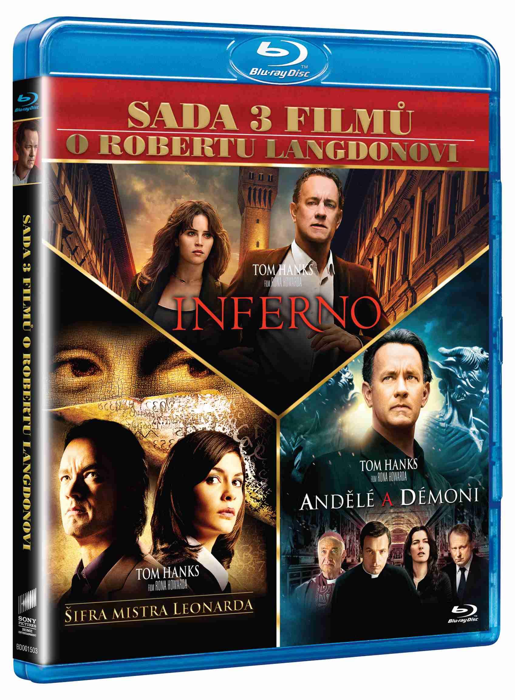 DAN BROWN KOLEKCE (Šifra mistra Leonarda, Andělé a démoni, Inferno) - Blu-ray