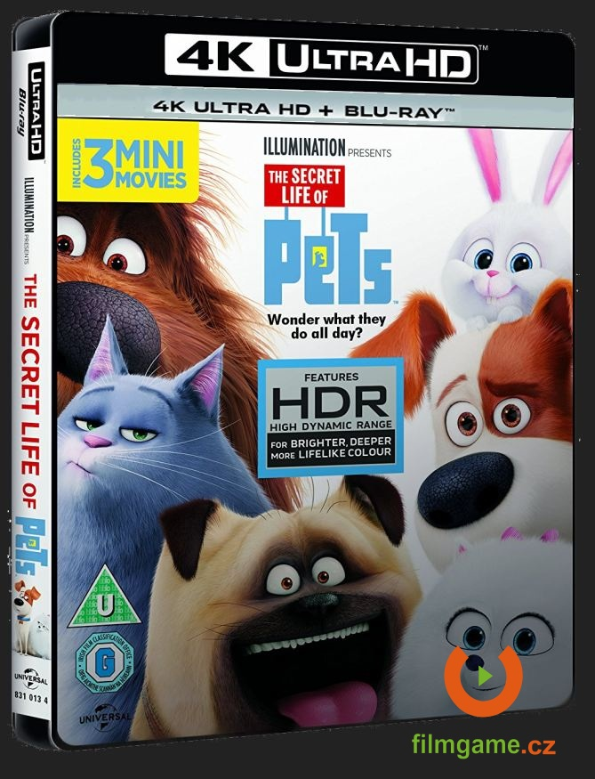 TAJNÝ ŽIVOT MAZLÍČKŮ (4K ULTRA HD) - UHD Blu-ray + Blu-ray (2 BD)