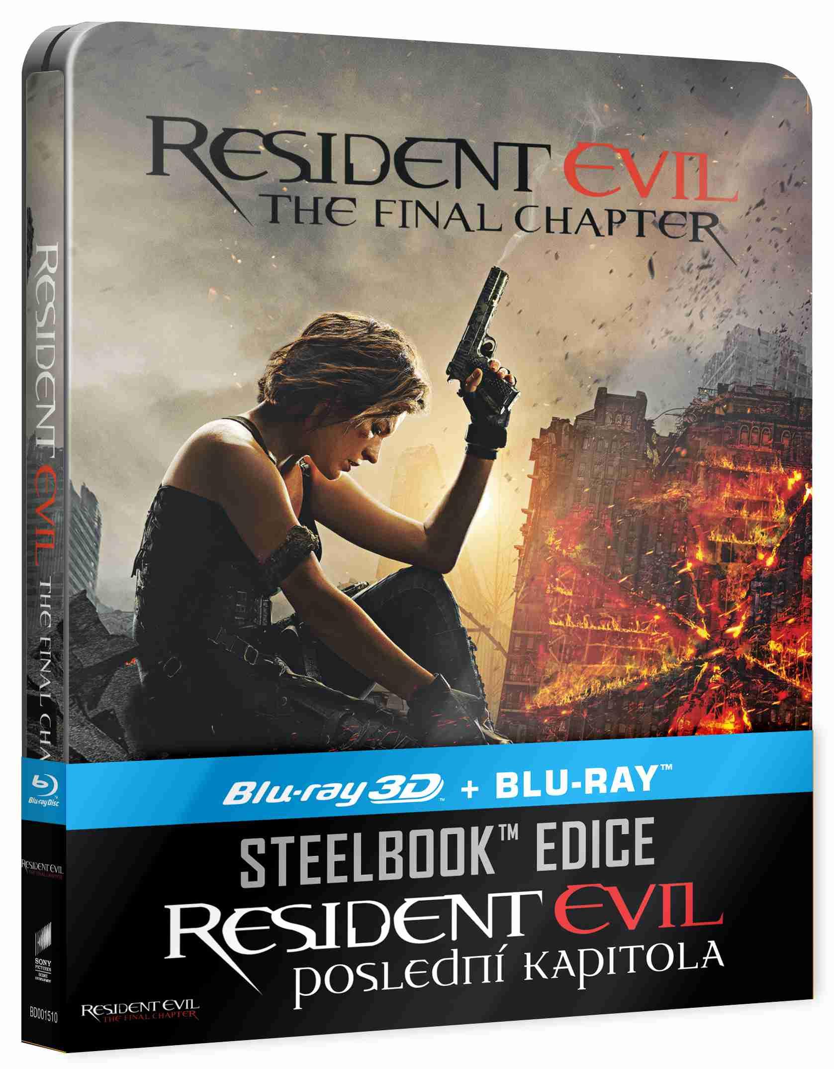 RESIDENT EVIL: POSLEDNÍ KAPITOLA - Blu-ray 3D + 2D STEELBOOK (2 BD)