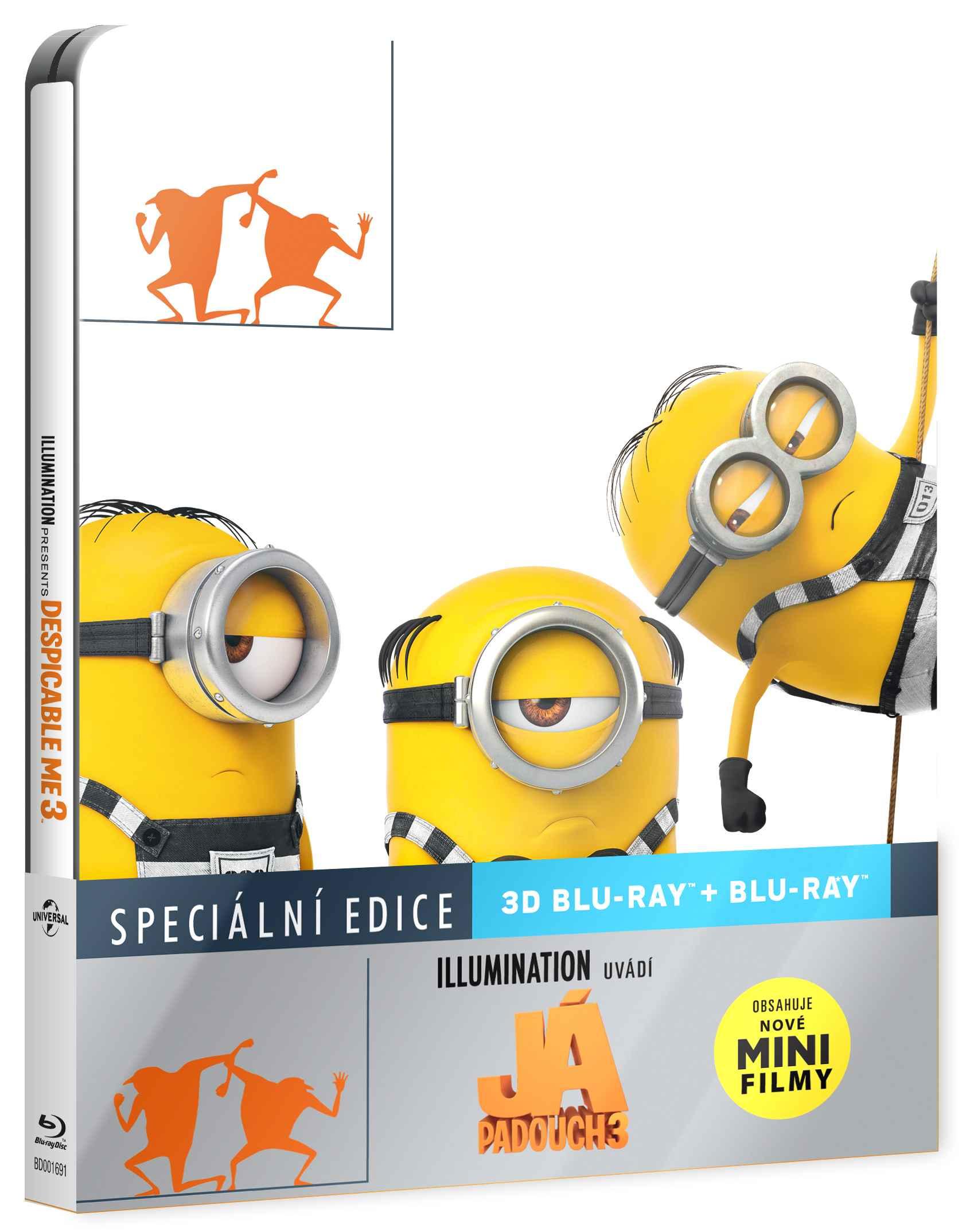 JÁ, PADOUCH 3 - Blu-ray 3D + 2D STEELBOOK (2 BD)