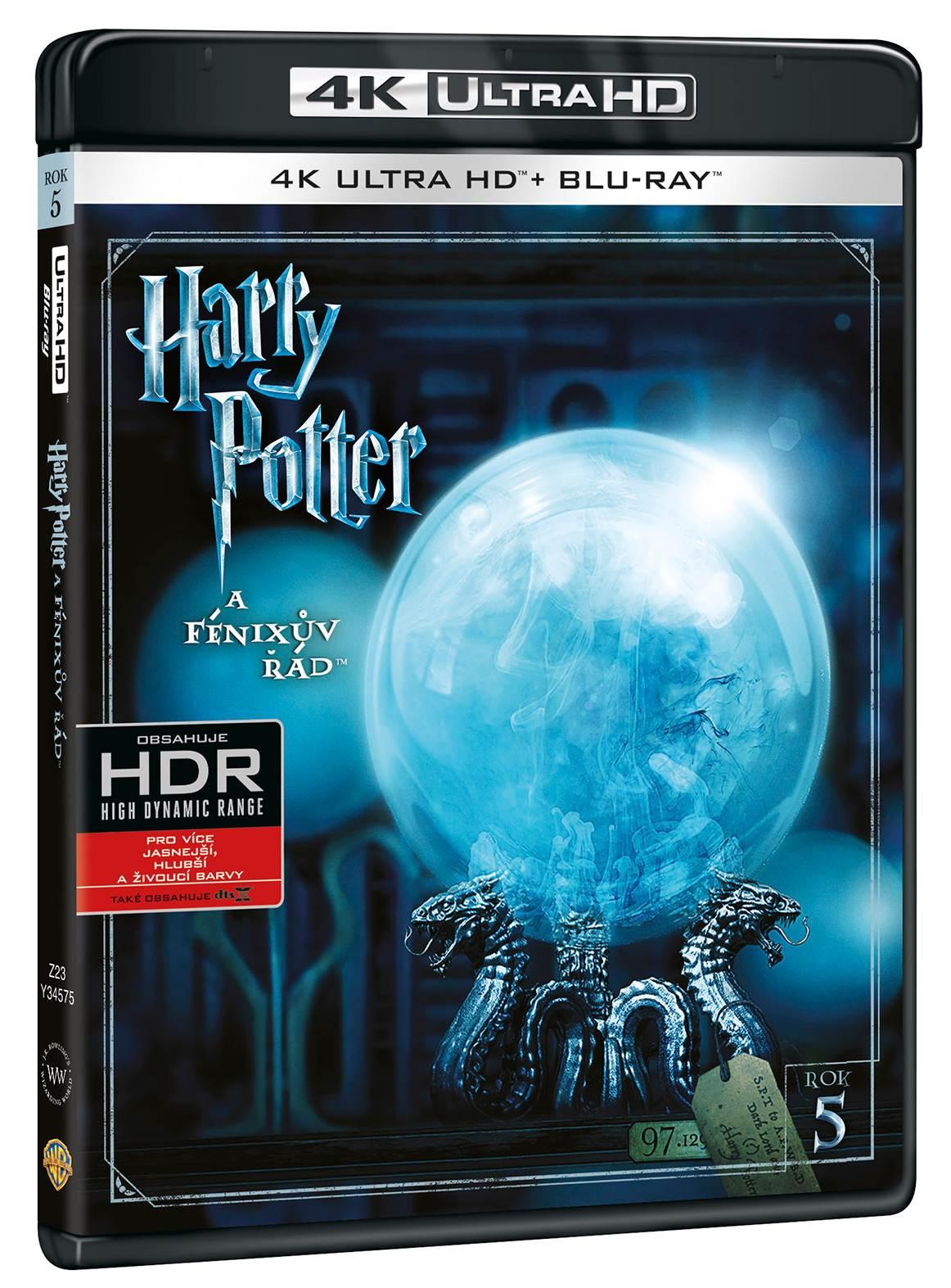 HARRY POTTER A FÉNIXŮV ŘÁD (4K ULTRA HD) - UHD Blu-ray + Blu-ray (2 BD)