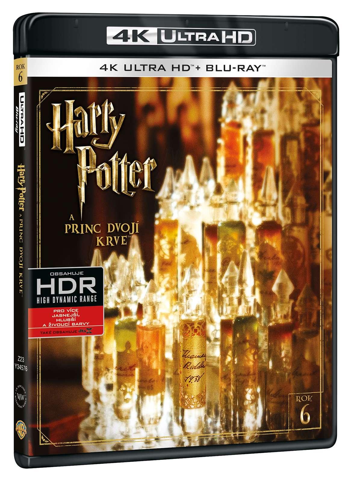 HARRY POTTER A PRINC DVOJÍ KRVE (4K ULTRA HD) - UHD Blu-ray + Blu-ray (2 BD)
