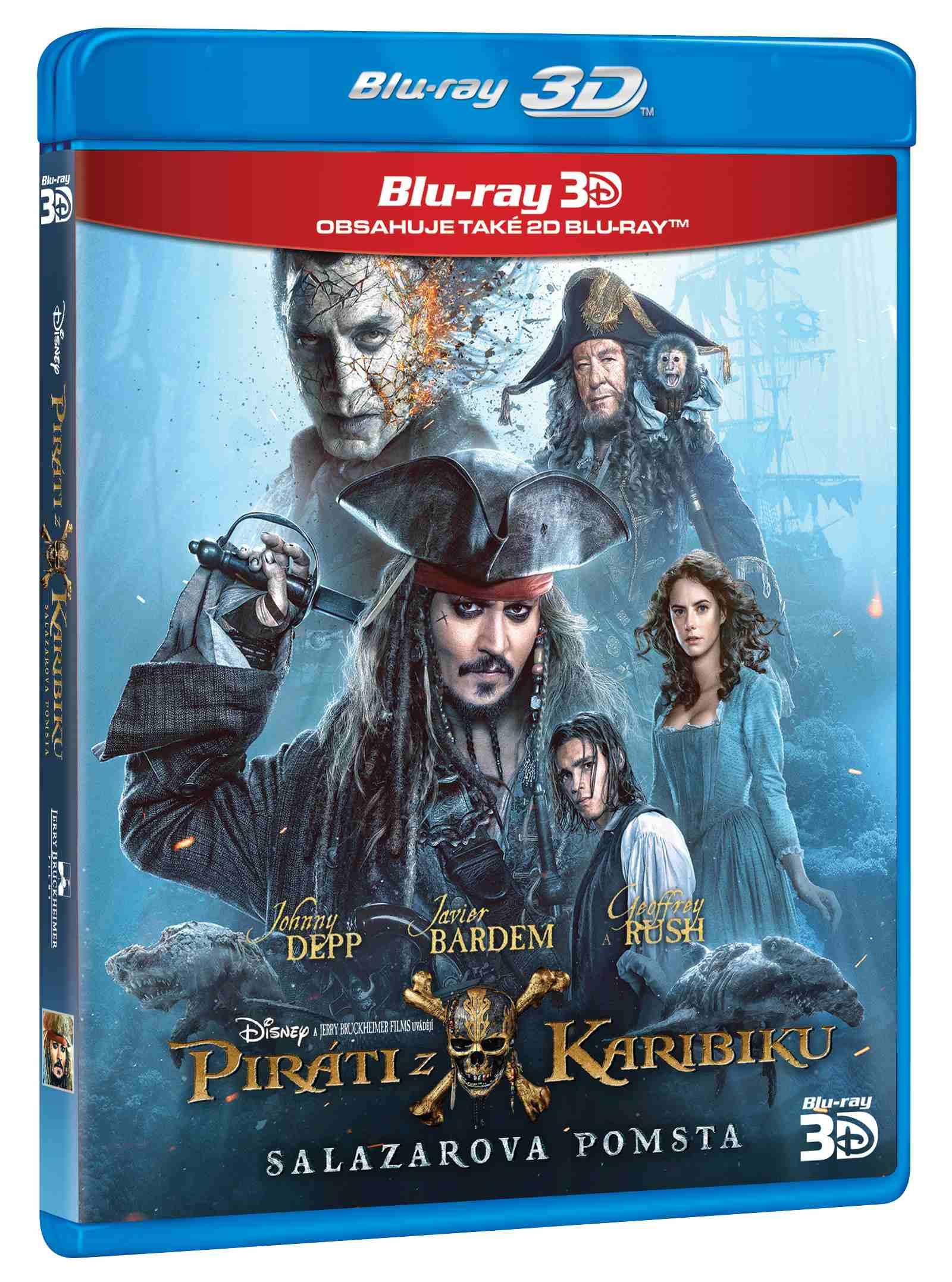 PIRÁTI Z KARIBIKU: SALAZAROVA POMSTA - Blu-ray 3D + 2D
