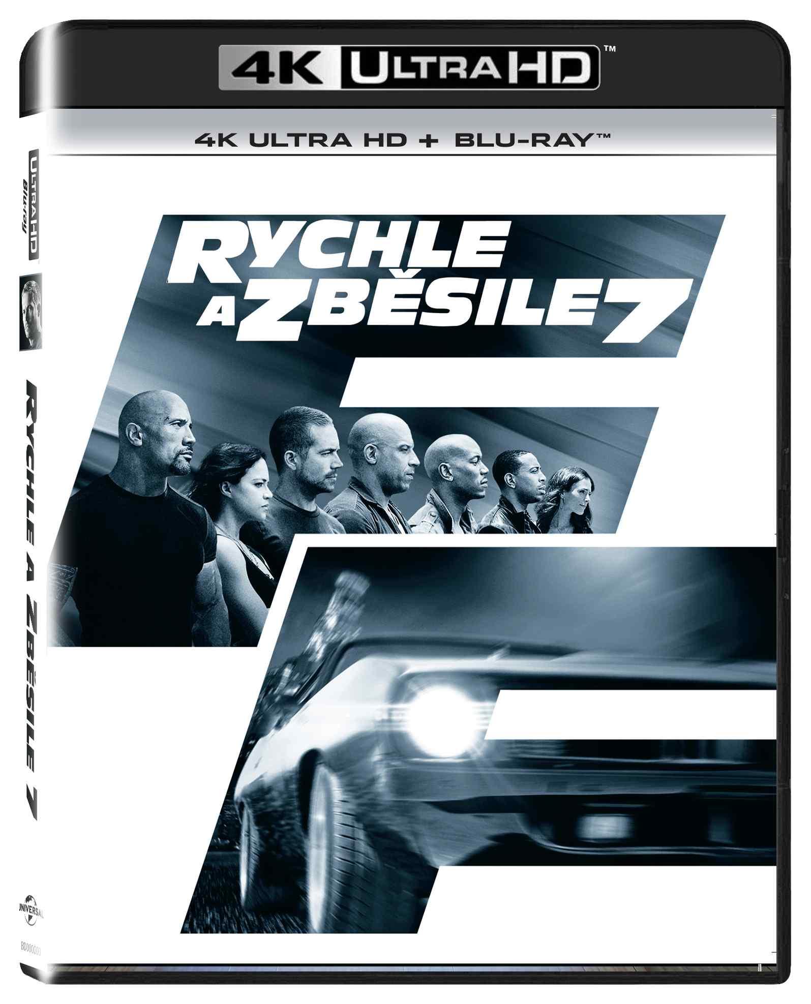 RYCHLE A ZBĚSILE 7 (4K ULTRA HD) - UHD Blu-ray + Blu-ray (2 BD)
