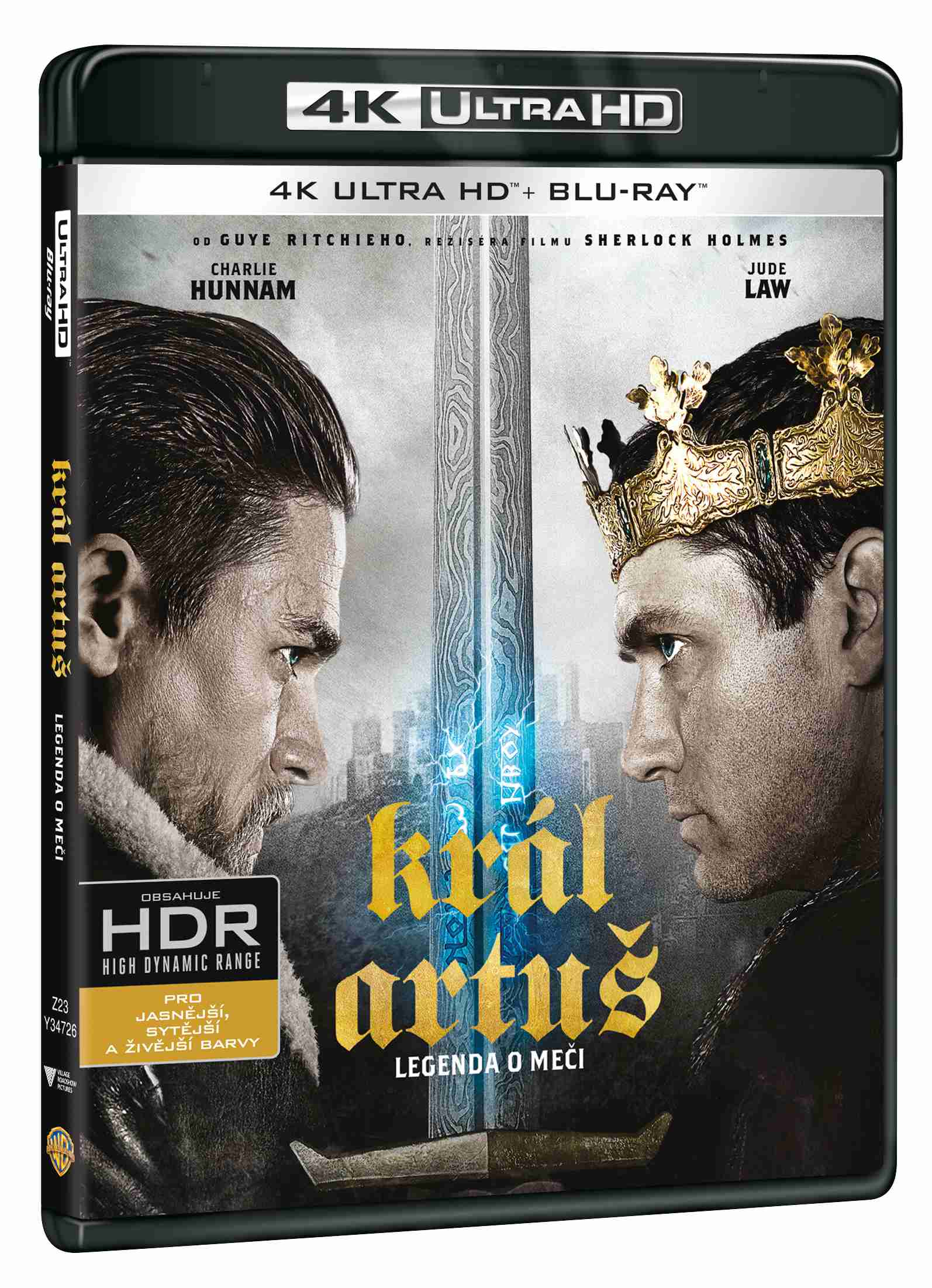 KRÁL ARTUŠ: LEGENDA O MEČI (4K ULTRA HD) - UHD Blu-ray + Bluray (2BD)