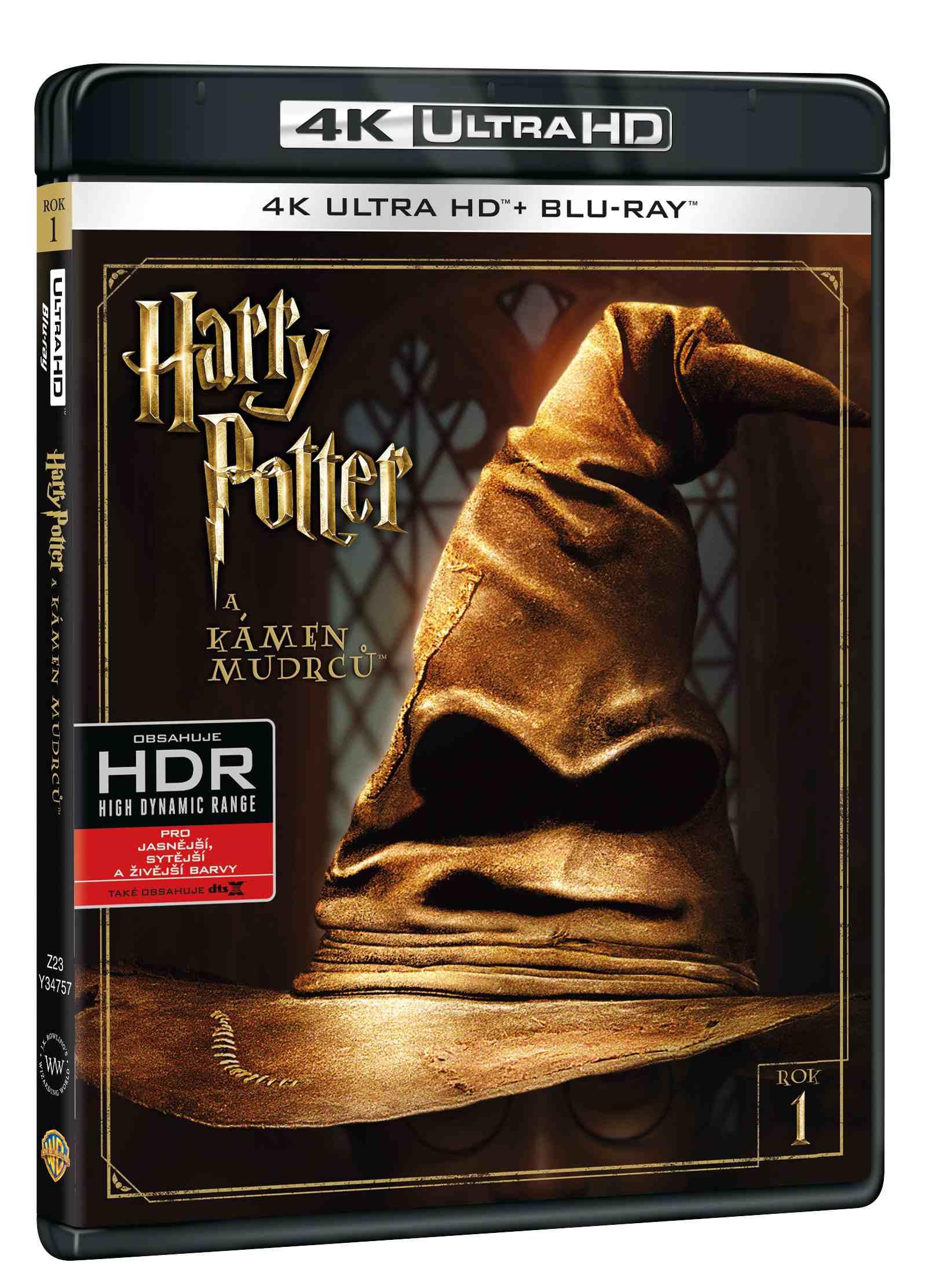 HARRY POTTER A KÁMEN MUDRCŮ (4K ULTRA HD) - UHD Blu-ray + Blu-ray (2 BD)