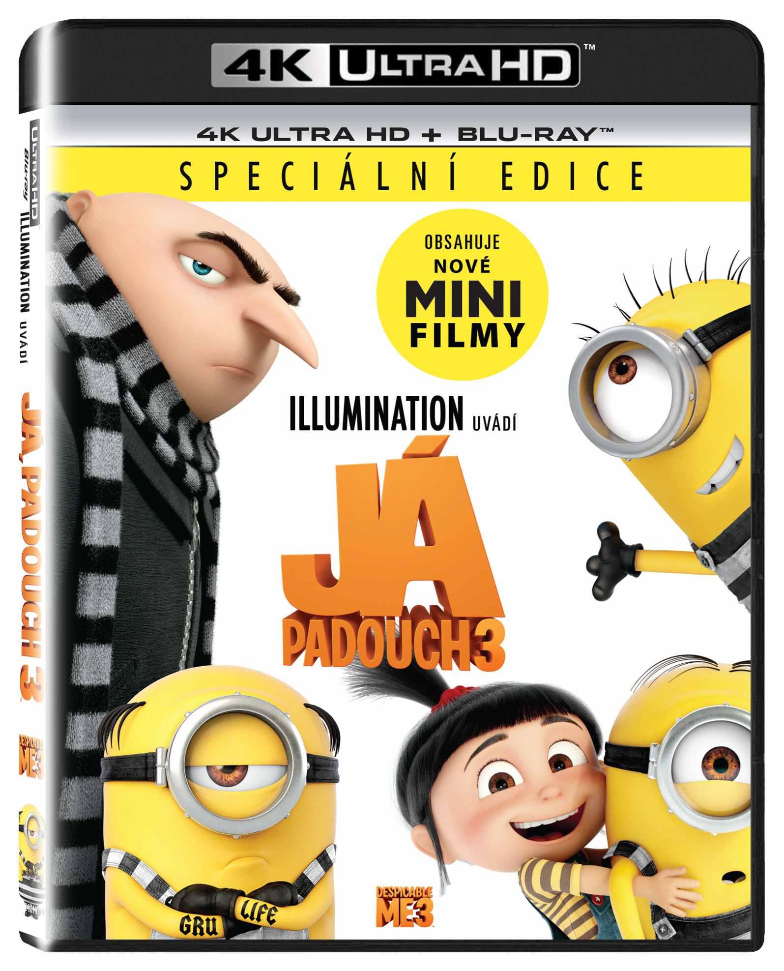 JÁ, PADOUCH 3 (4K ULTRA HD) - UHD Blu-ray + Blu-ray (2 BD)