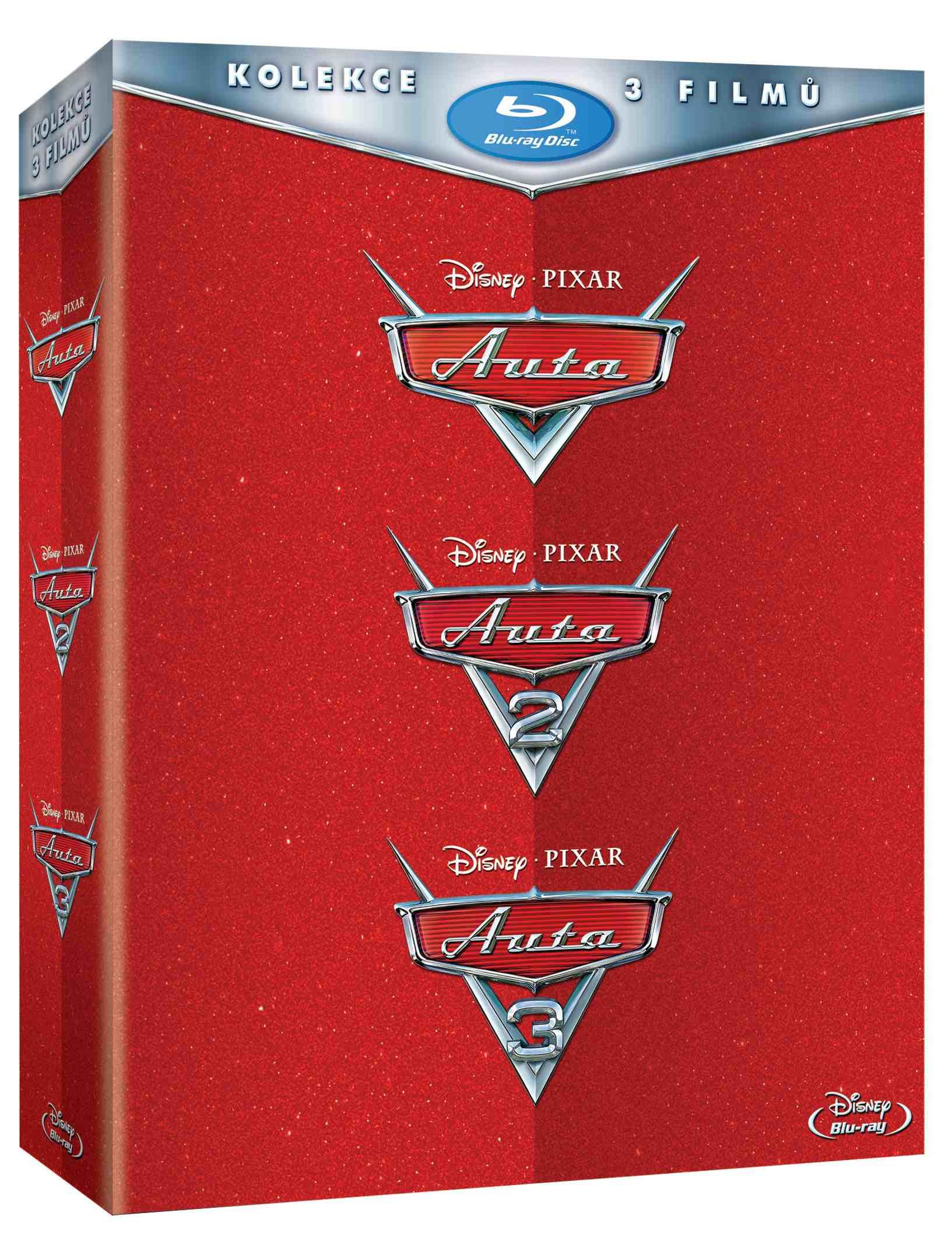 Auta 1-3 kolekce - Blu-ray (3 BD)