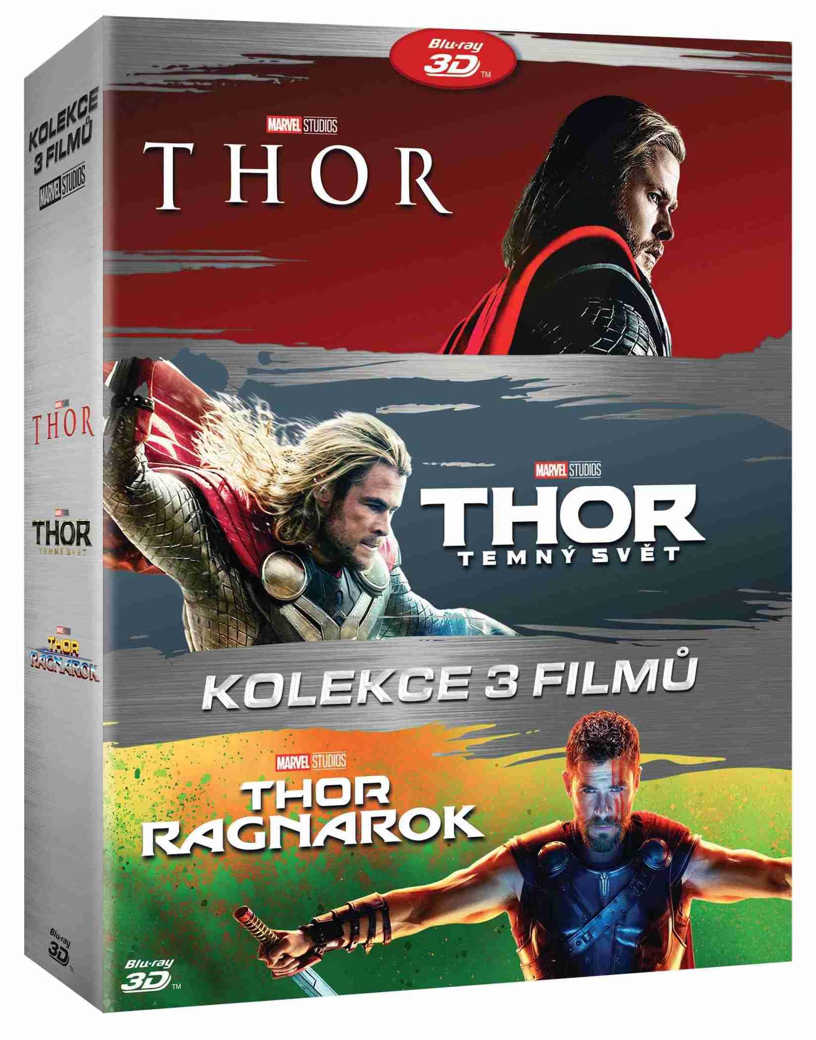 Thor 1-3 kolekce (6 BD) - Blu-ray 3D + 2D