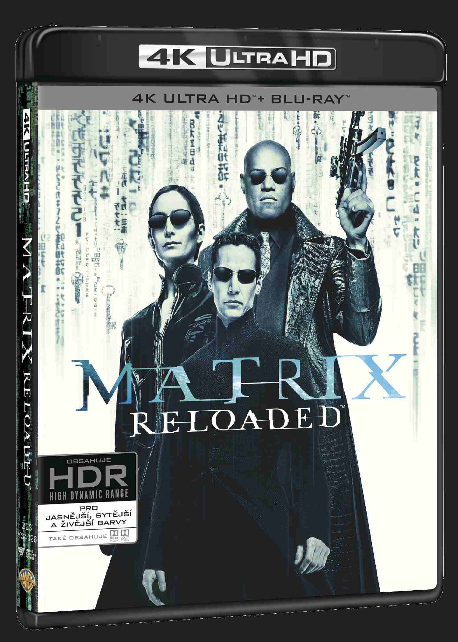 Matrix Reloaded (4K ULTRA HD) - UHD Blu-ray + Blu-ray + Bonus disc (3 BD)