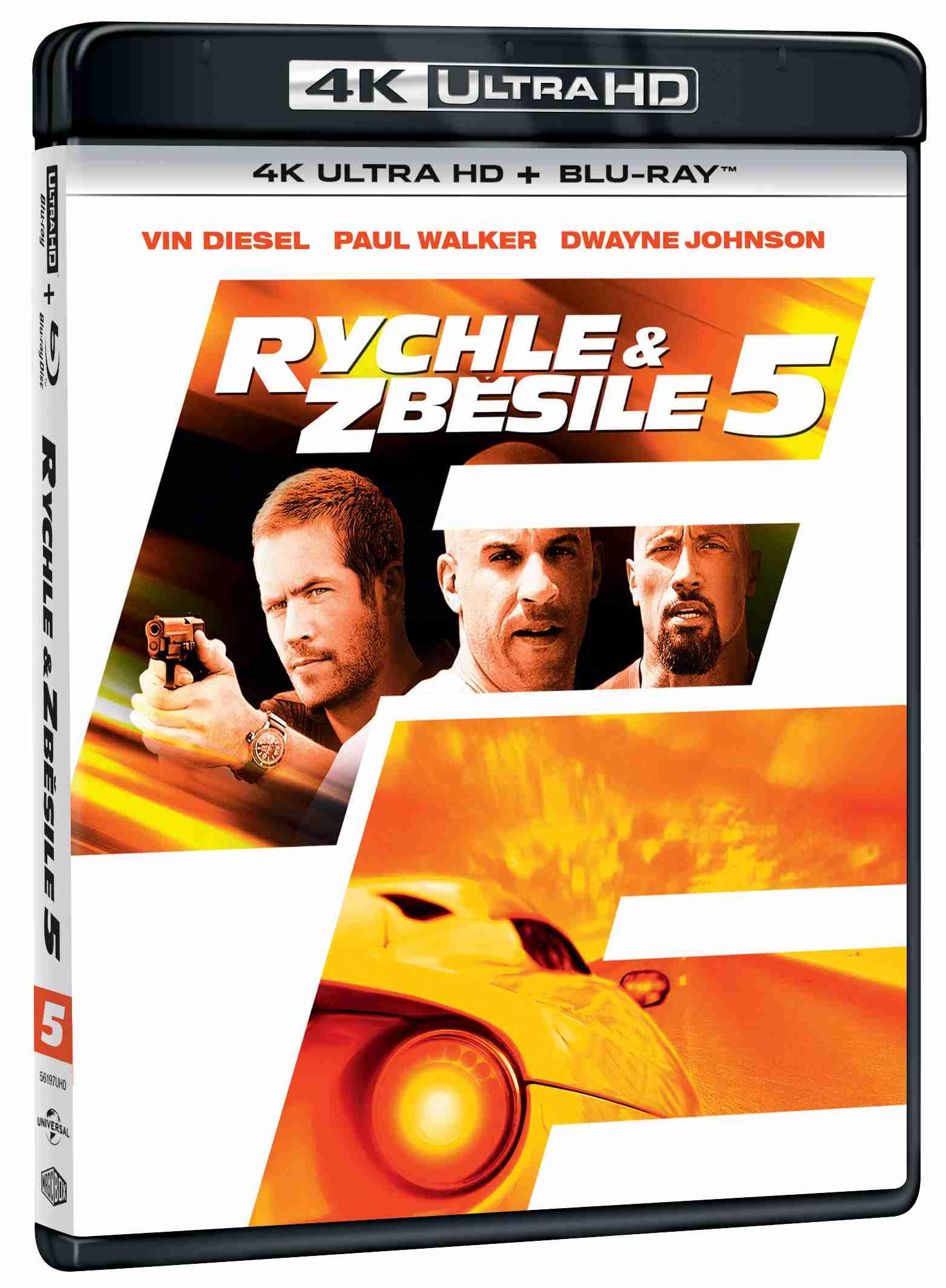 Rychle a zběsile 5 (4K Ultra HD Blu-ray + Blu-ray (2 BD)