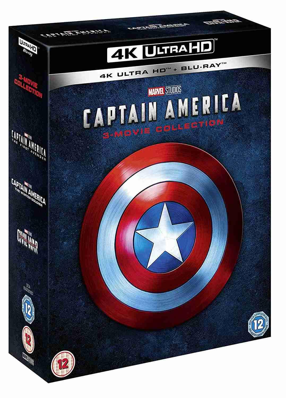 Captain America 1-3 kolekce (4K ULTRA HD) - UHD + Blu-ray (6 BD) (Bez CZ)