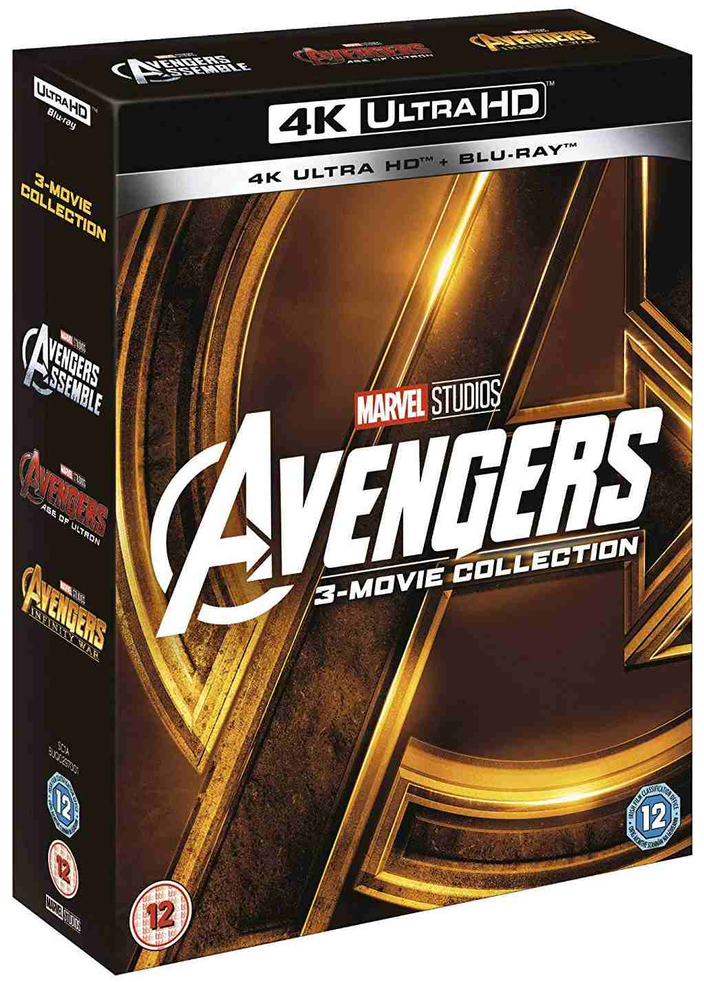 Avengers 1-3 kolekce (4K Ultra HD) - UHD Blu-ray + BD (6 BD) (Bez CZ podpory)