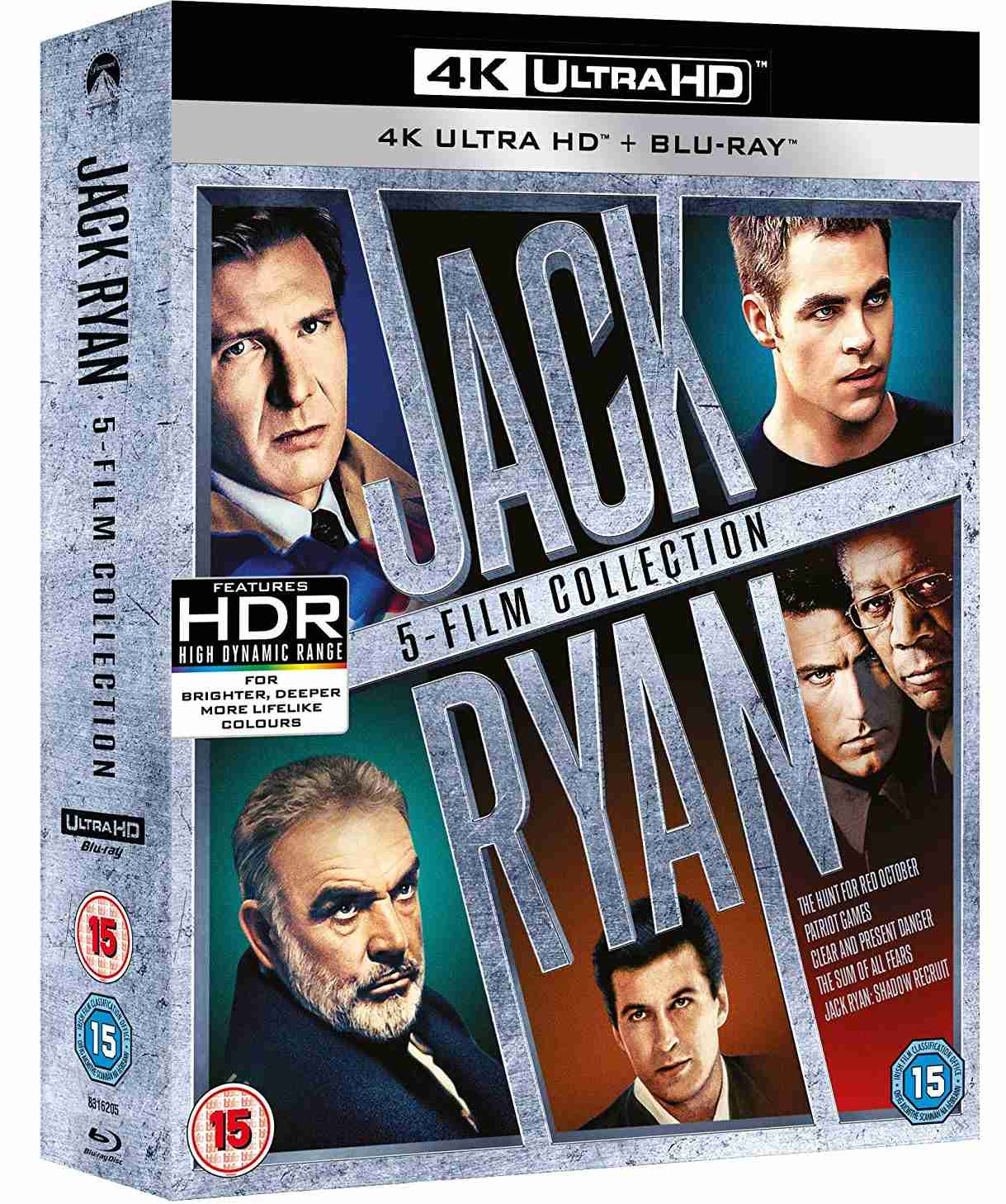 Jack Ryan 4K kolekce (4K Ultra HD) - 5 UHD Blu-ray