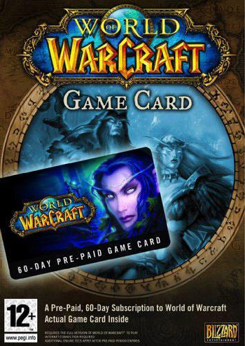 WORLD OF WARCRAFT - GAME CARD - PC