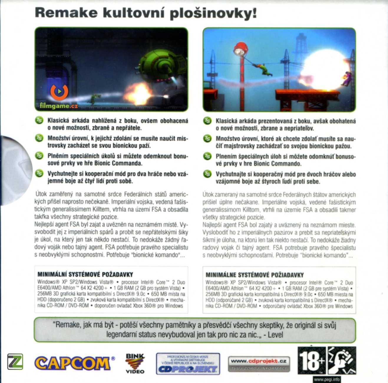 BIONIC COMMANDO REARMED - PC