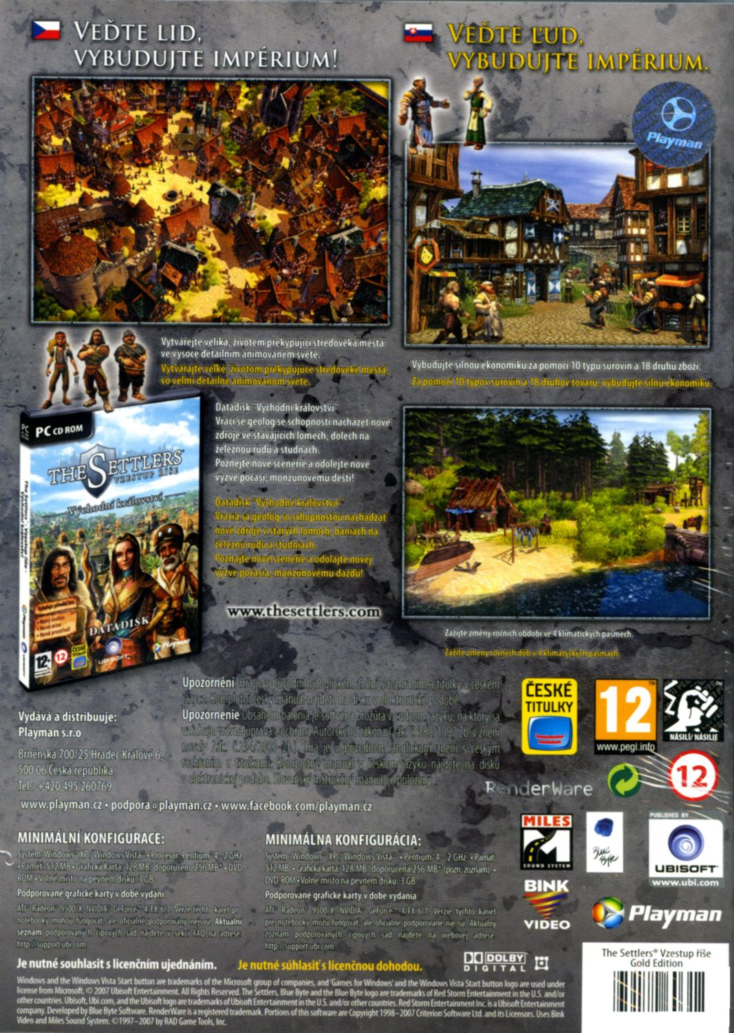 THE SETTLERS 6: VZESTUP ŘÍŠE GOLD CZ - PC