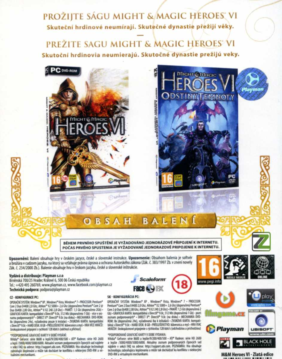 MIGHT AND MAGIC: HEROES VI: ZLATÁ EDICE - PC