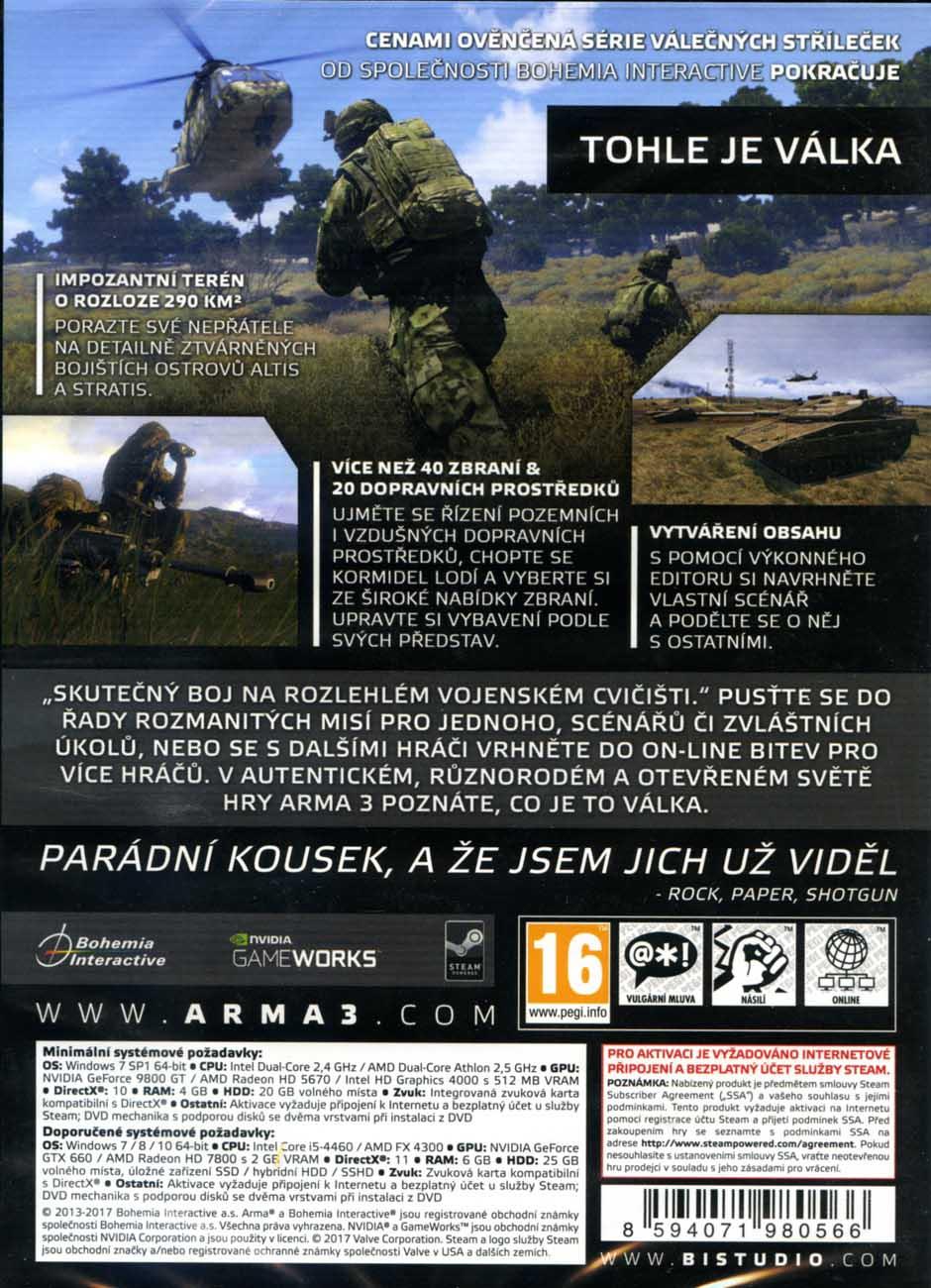 ARMA 3 CZ - PC