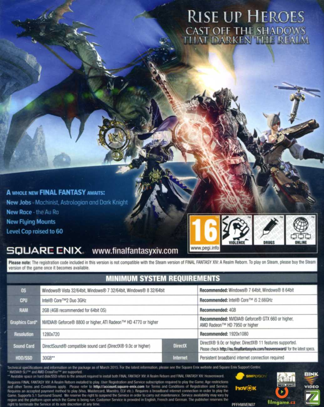 FINAL FANTASY XIV: HEAVENSWARD (Online) - PC