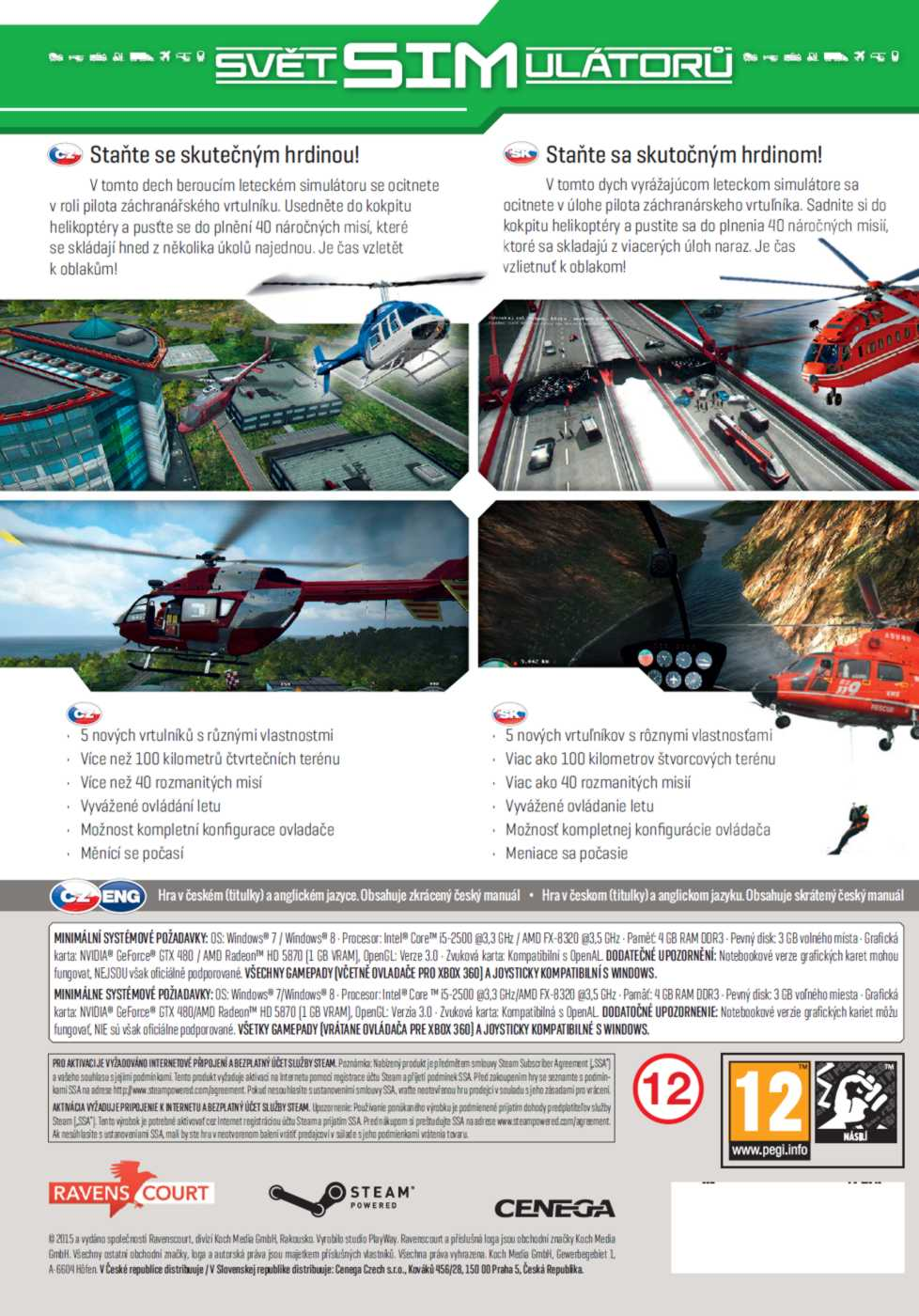 HELICOPTER 2015: NATURAL DISASTERS CZ - PC