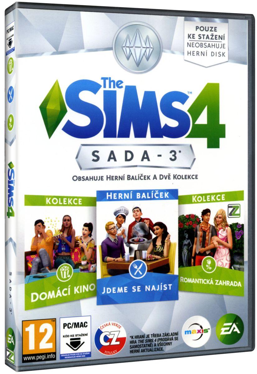 THE SIMS 4 SADA 3: JDEME SE NAJÍST + DOMÁCÍ KINO + ROMANTICKÁ ZAHRADA - PC