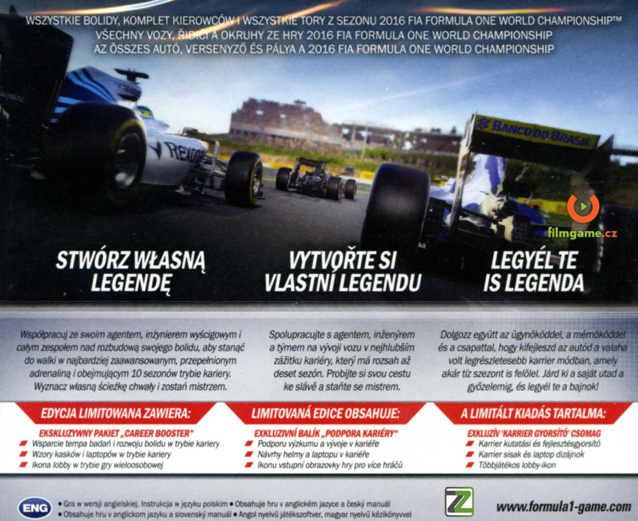 F1 2016 + DLC Career Booster - PC