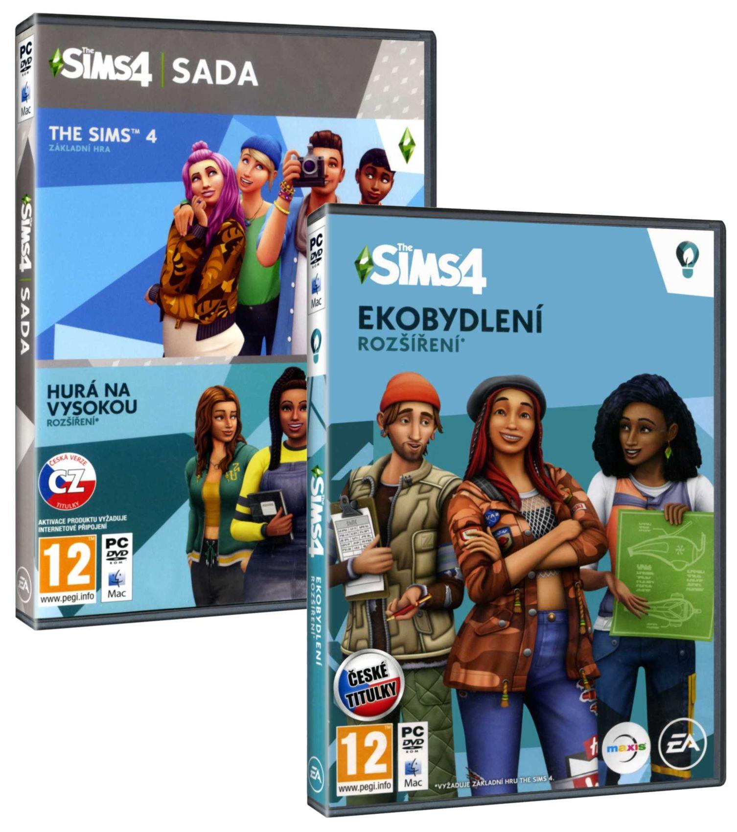 The Sims 4 + Hurá na vysokou + Ekobydlení BUNDLE (základ + 2 rozšíření) -