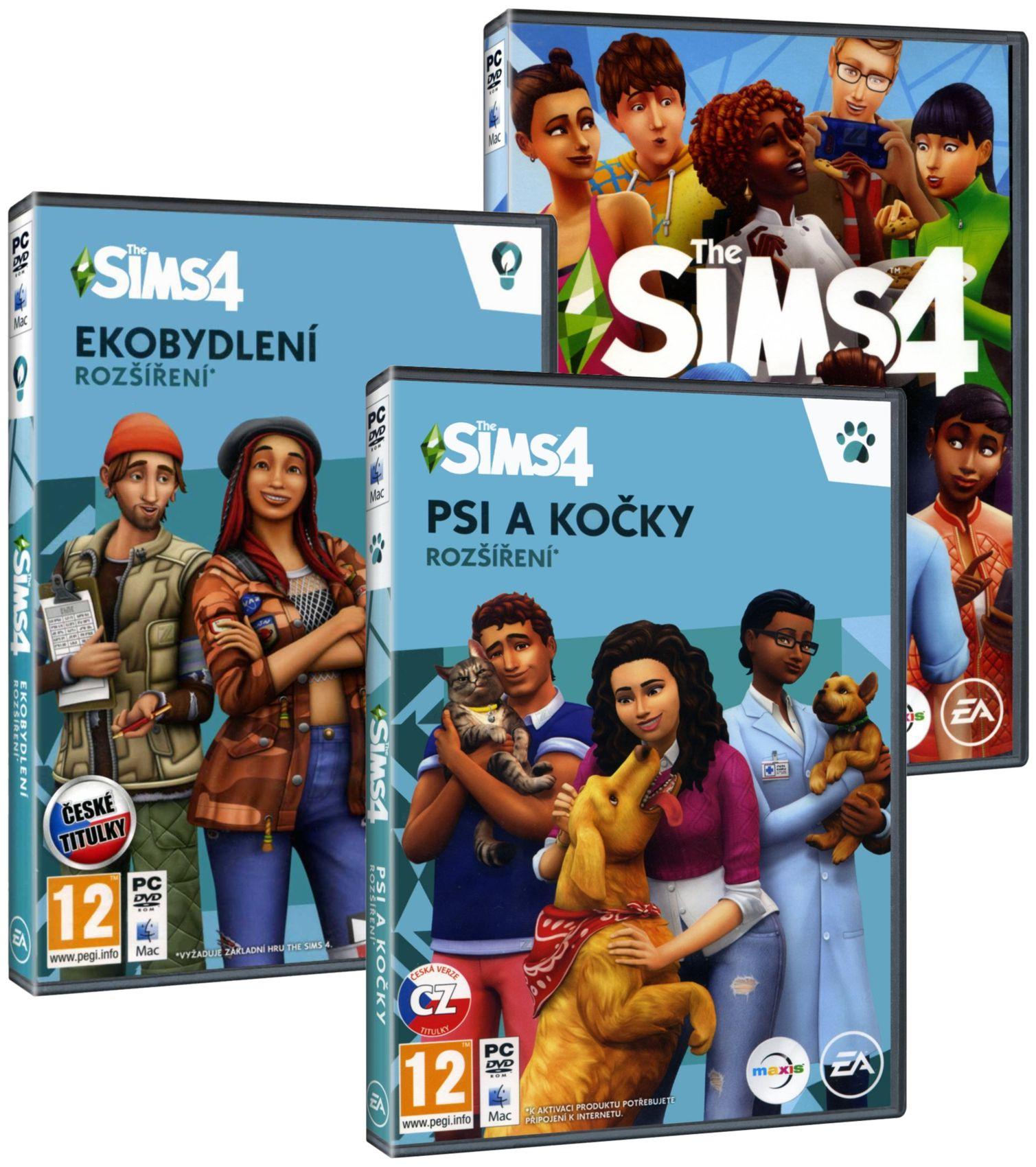 The Sims 4 + Ekobydlení + Psi a kočky BUNDLE (základ + 2 rozšíření) - PC
